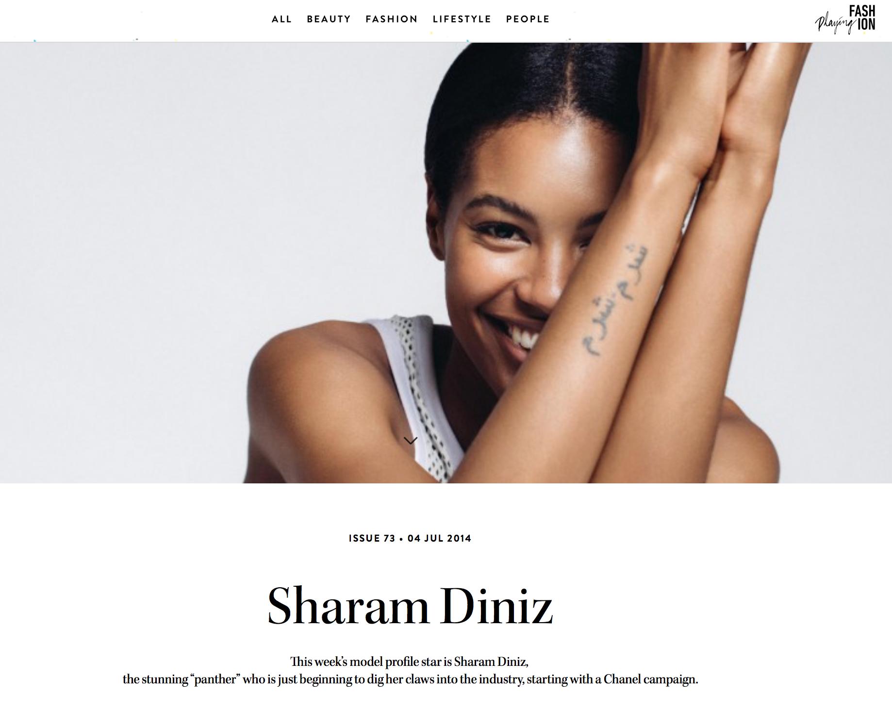 Press: Playing Fashion  Featuring: Sharam Diniz