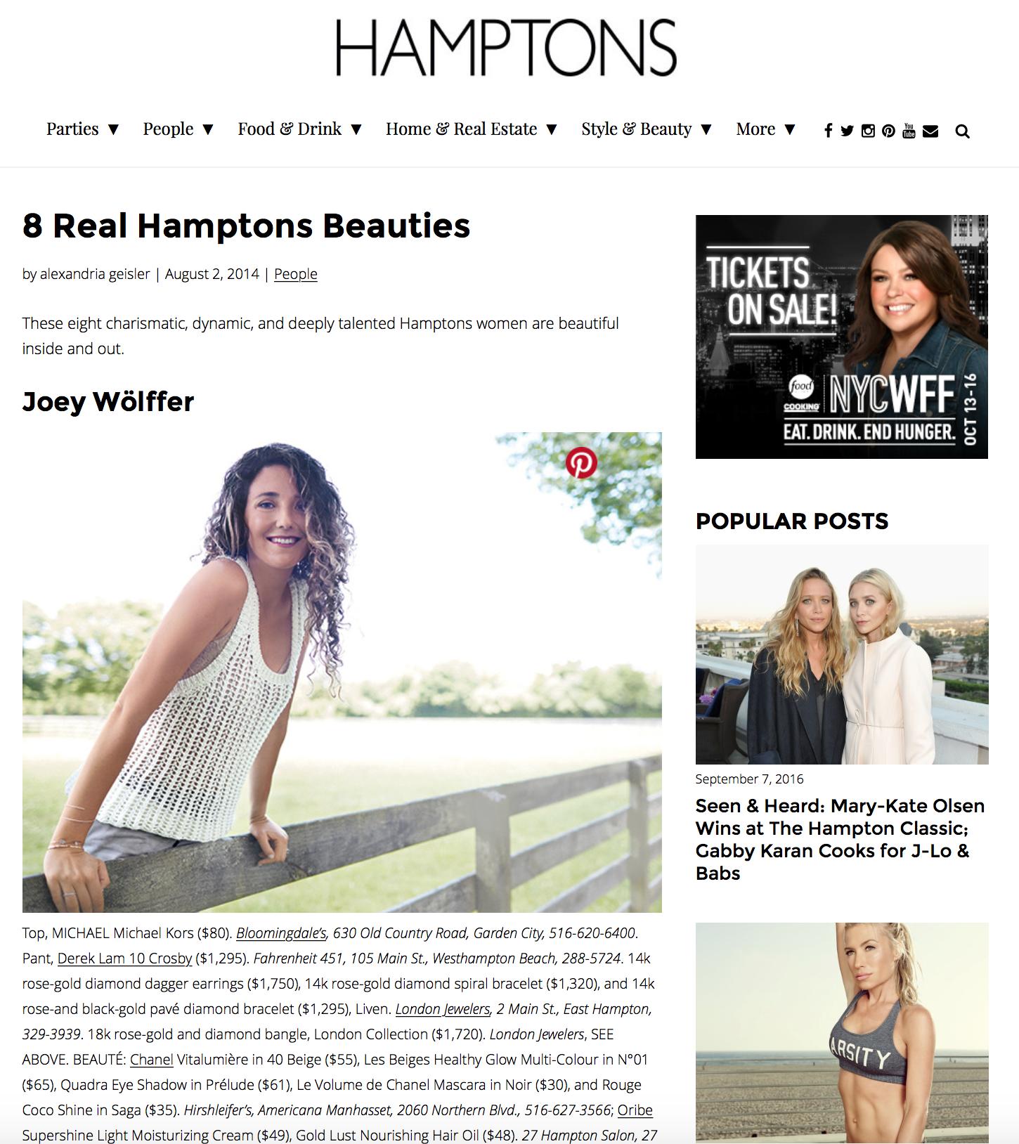 Press: Hamptons Magazine  Featuring:Marvet Britto