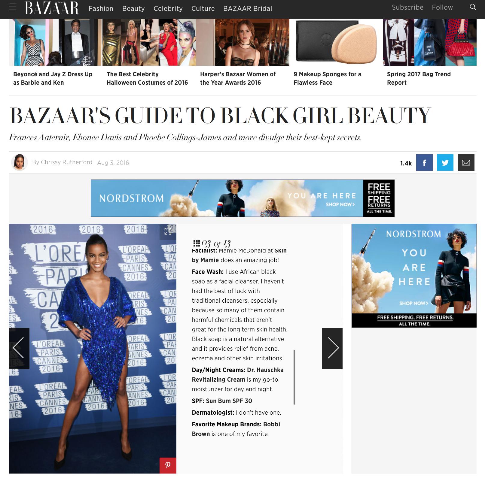 Press: Harpers Bazzar         Featuring:Ebonee Davis