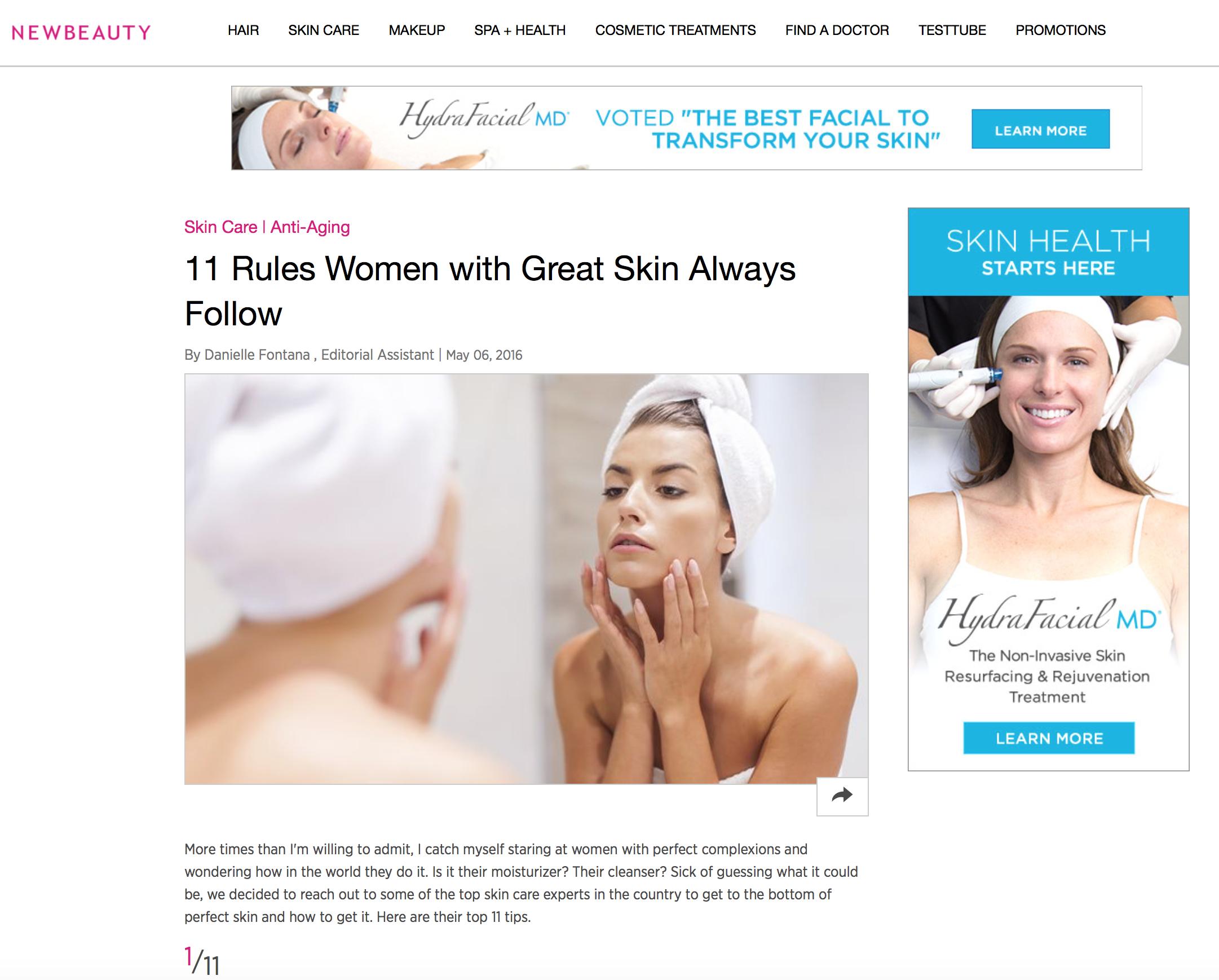 Press: New Beauty   Featuring:Mamie
