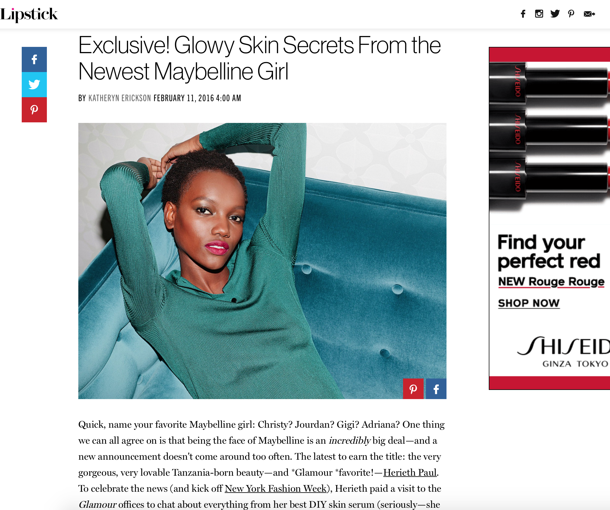 Press: Glamour     Featuring:    Herieth Paul