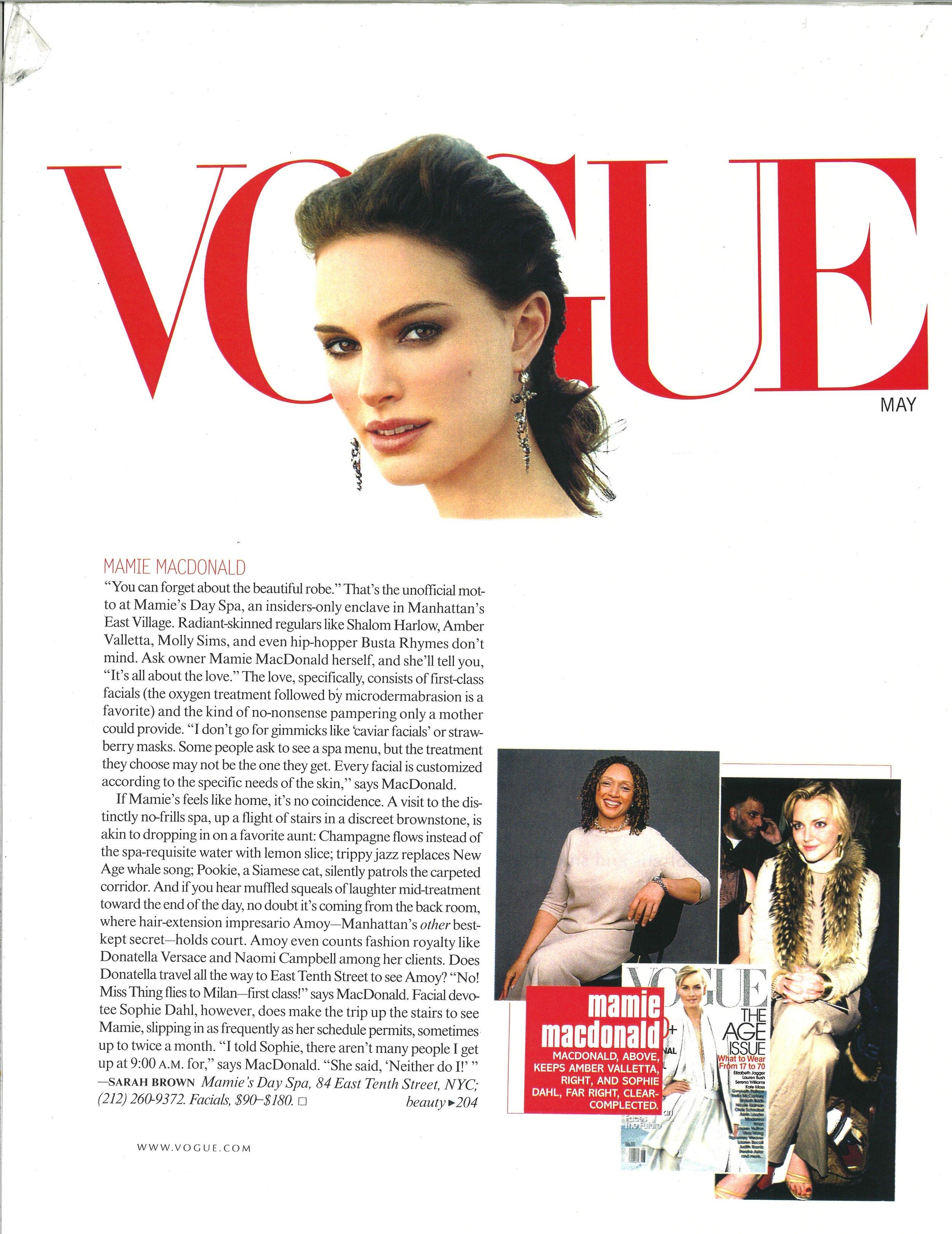 Press: Vogue Magazine   Featuring  :Mamie