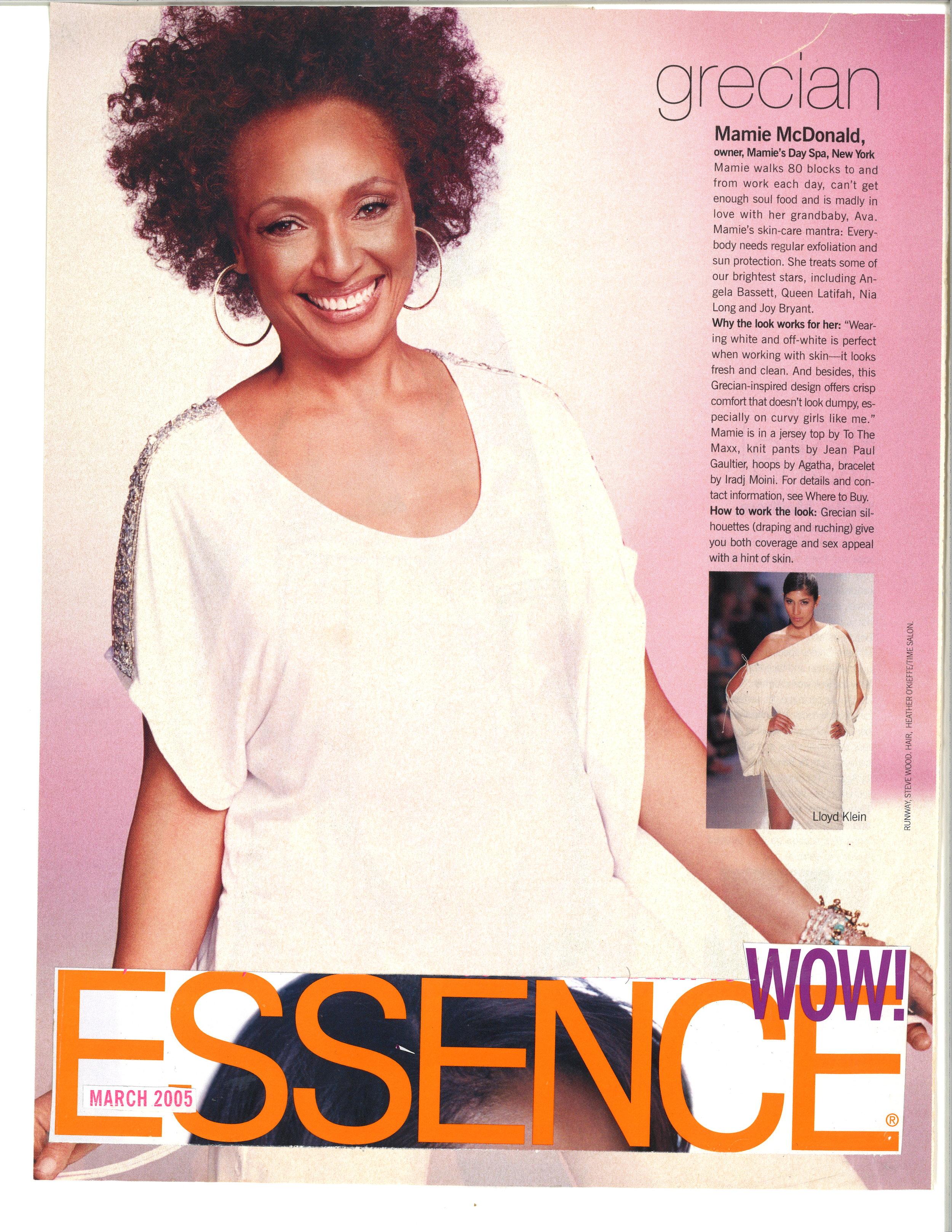 Press: Essence Magazine   Featuring  : Mamie
