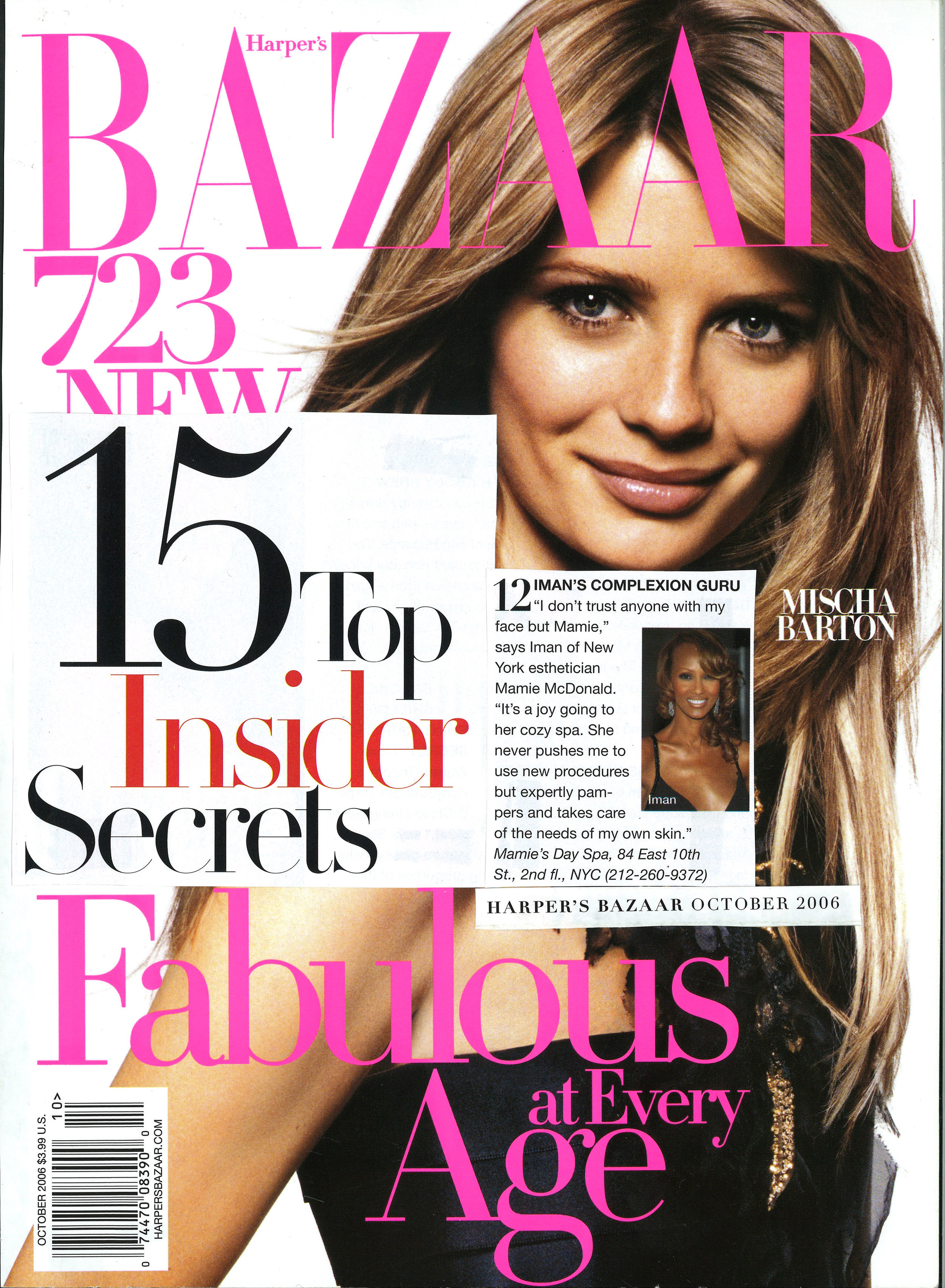 Press: Harper's Bazaar Magazine   Featuring  : Iman