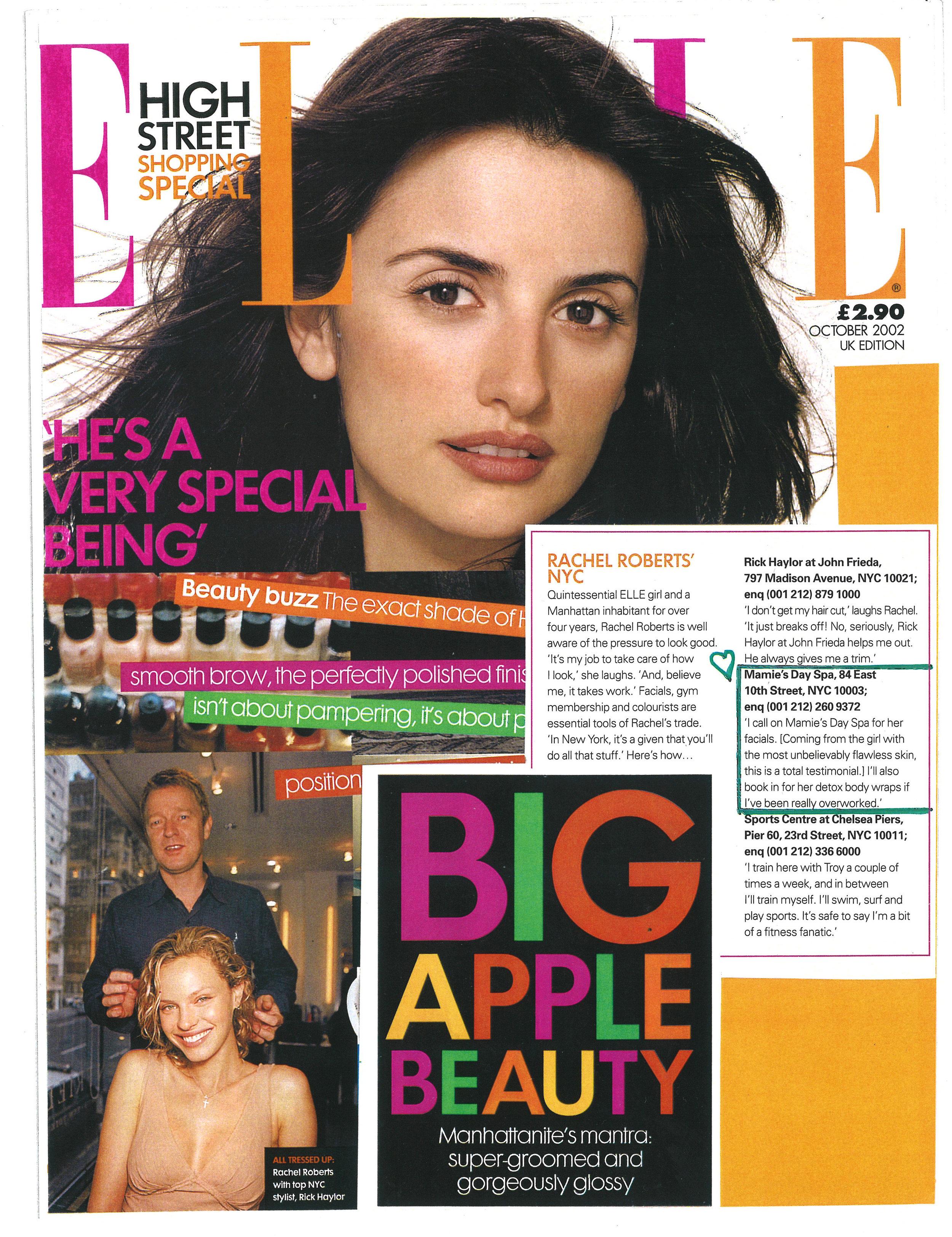 Press: Elle Magazine   Featuring  : Rachel Roberts