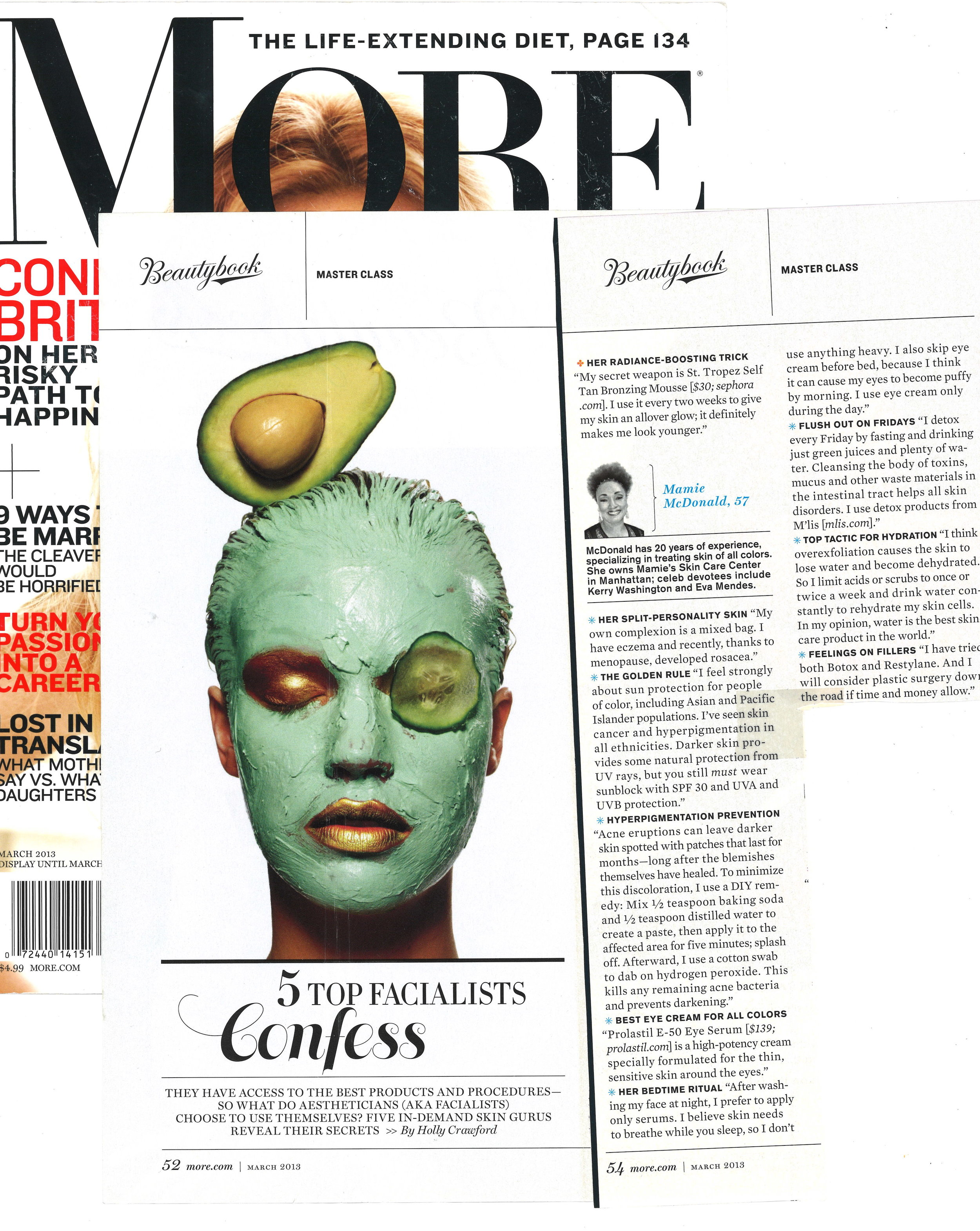 Press: More Magazine  Featuring: Mamie