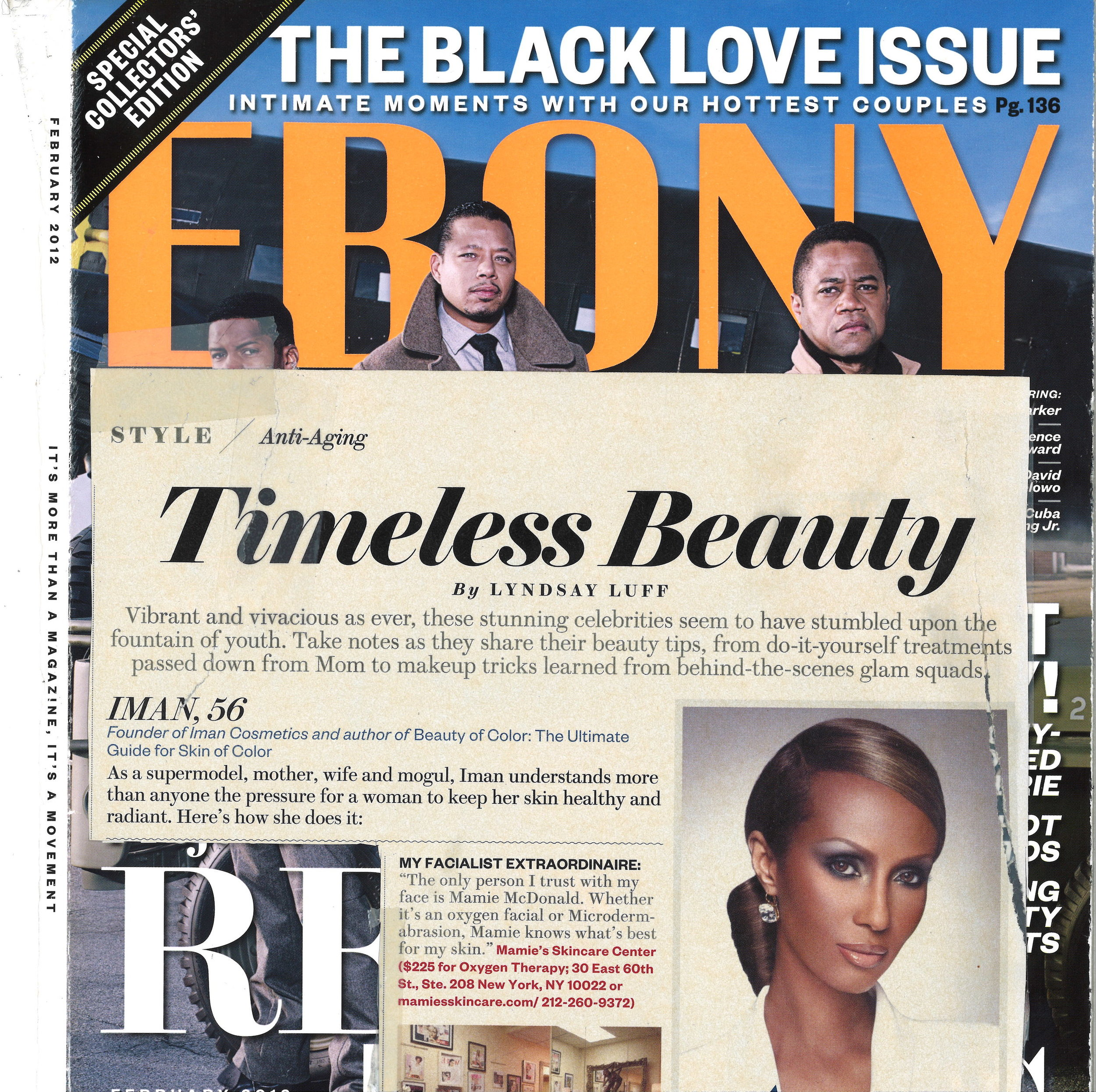 Press: Ebony Magazine  Featuring: Iman