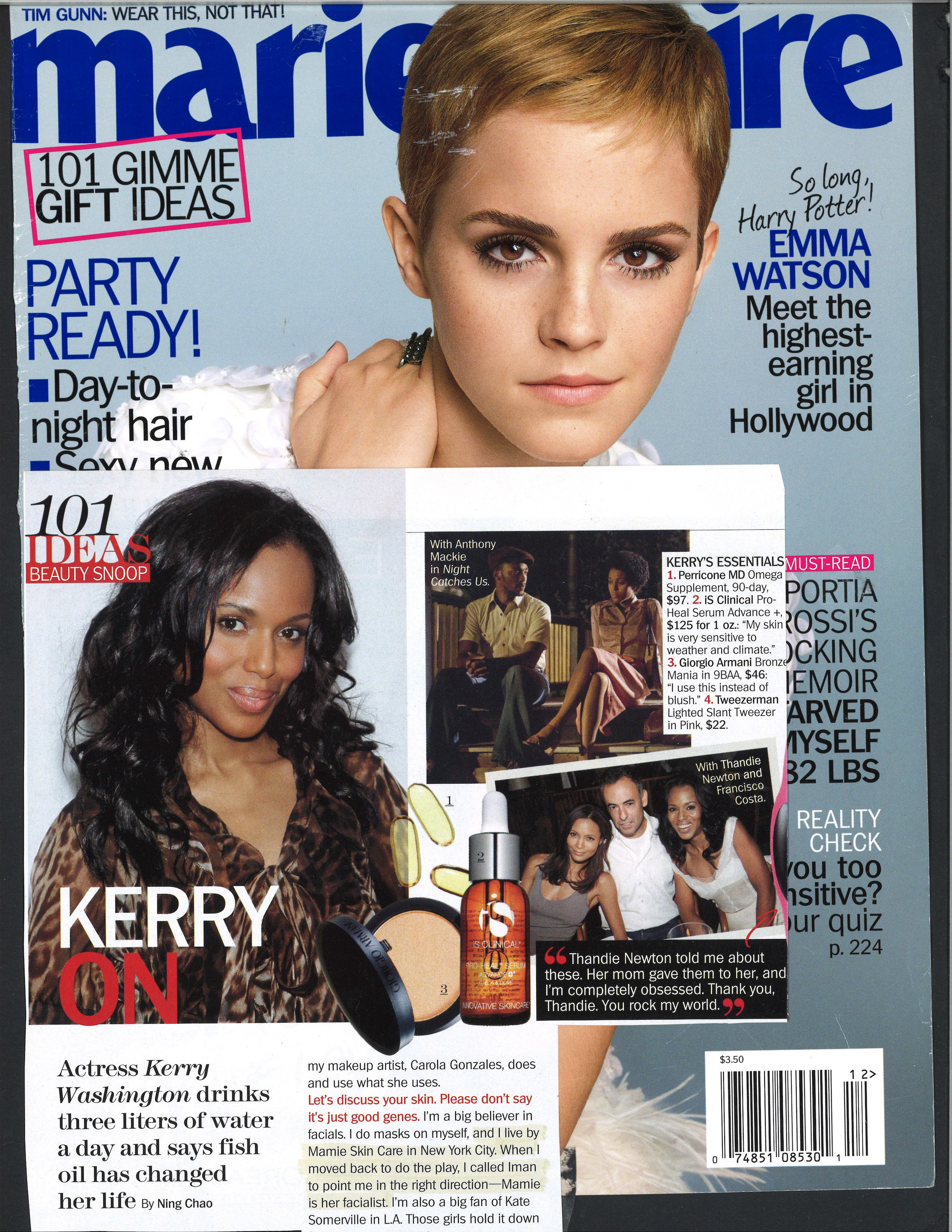 Press: Marie Claire  Featuring: Kerry Washington