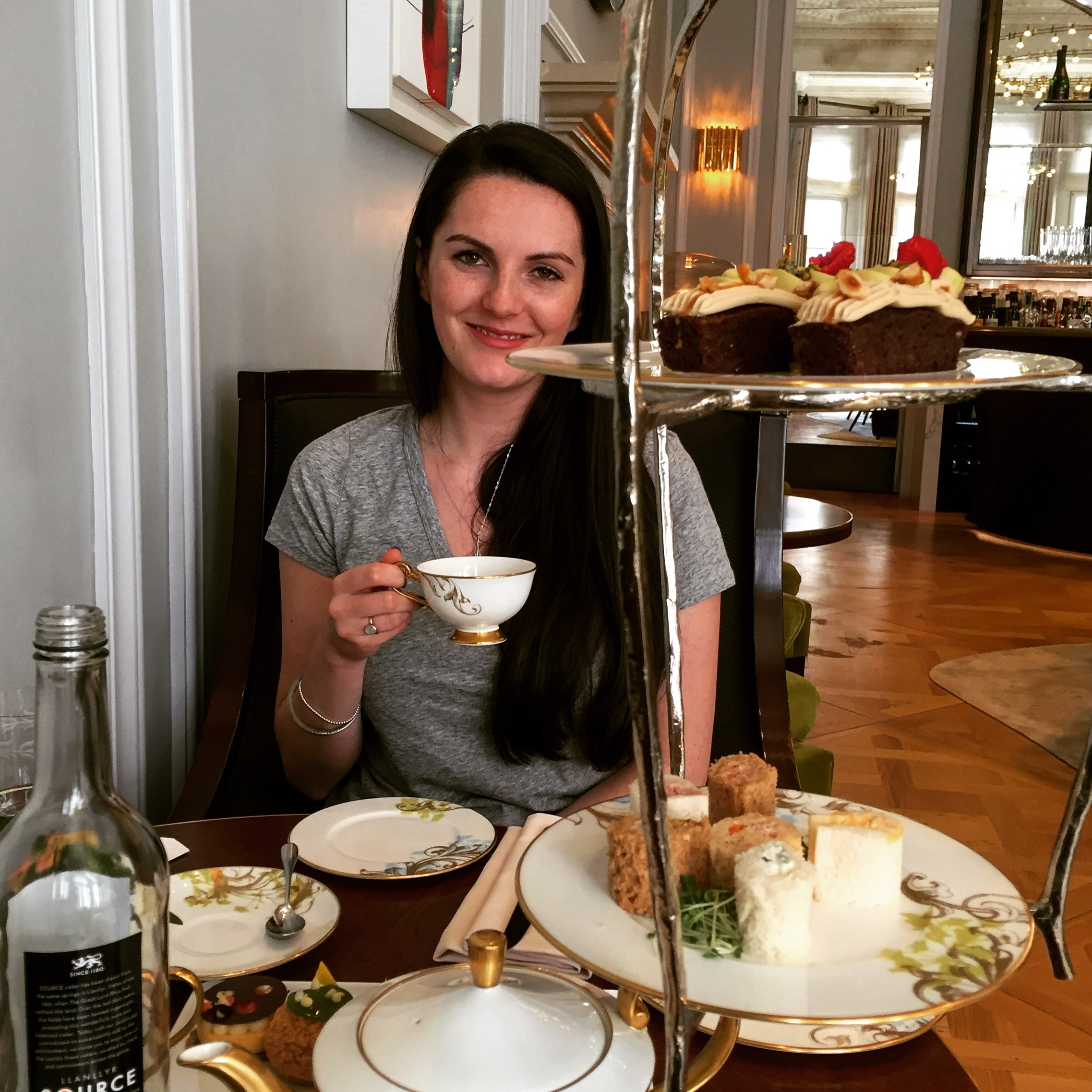 Trying to look ladylike with my dainty teacup!