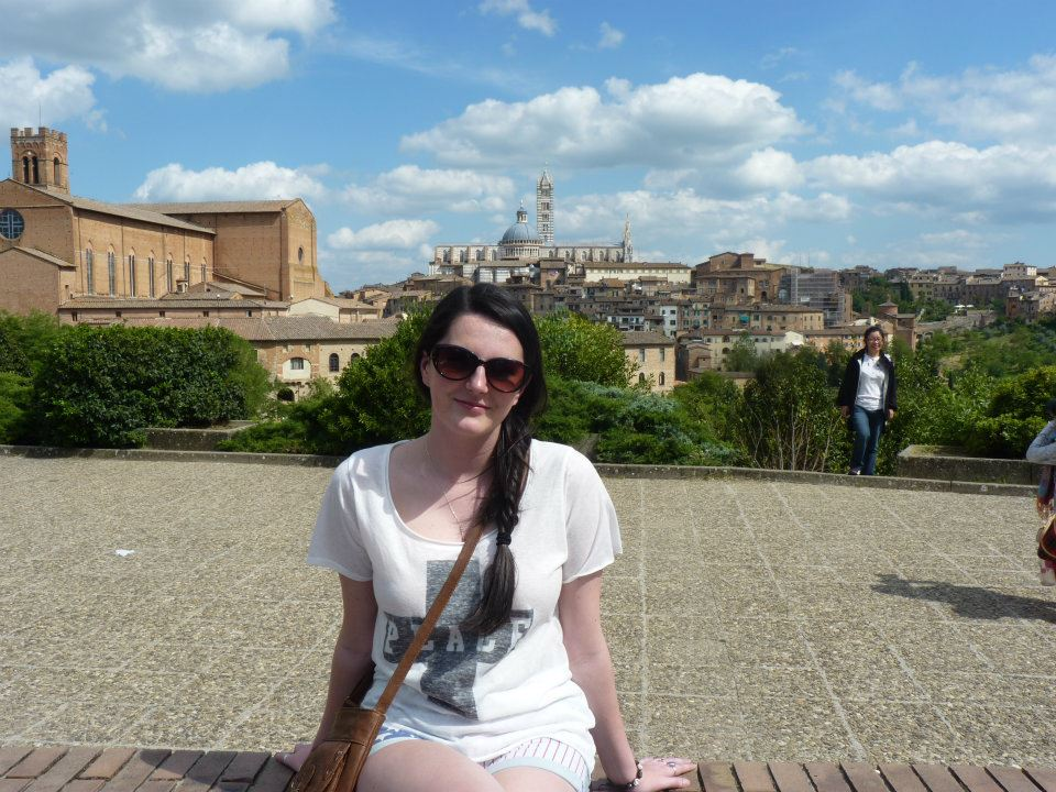 Taking in the beautiful views of Siena