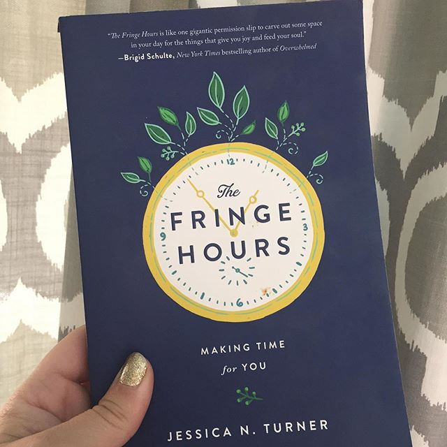 Just finished this awesome book for the second time! The Fringe Hours by Jessica Turner. It's a great read if you're finding yourself short on time to pursue your own passions & hobbies. I'd highly recommend it! #fringehours #booksformoms #maketime