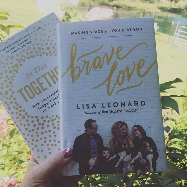 Today's front porch reading includes a book I am sooooo pumped about by Lisa Leonard called Brave Love! And a new one I heard about called In This Together by Nancy D. O'Reilly. I'm reading these both to see which one would be best for this winter's book club for our Thrive Hive Mompreneur Collective community. Which one calls to you?  @lisaleonard #bravelove #mompreneurs #inthistogether #bookclub