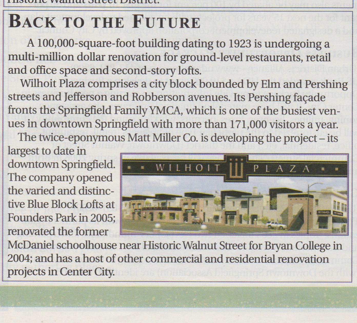 2006 - Wilhoit Plaza - Springfield Business Journal.jpg