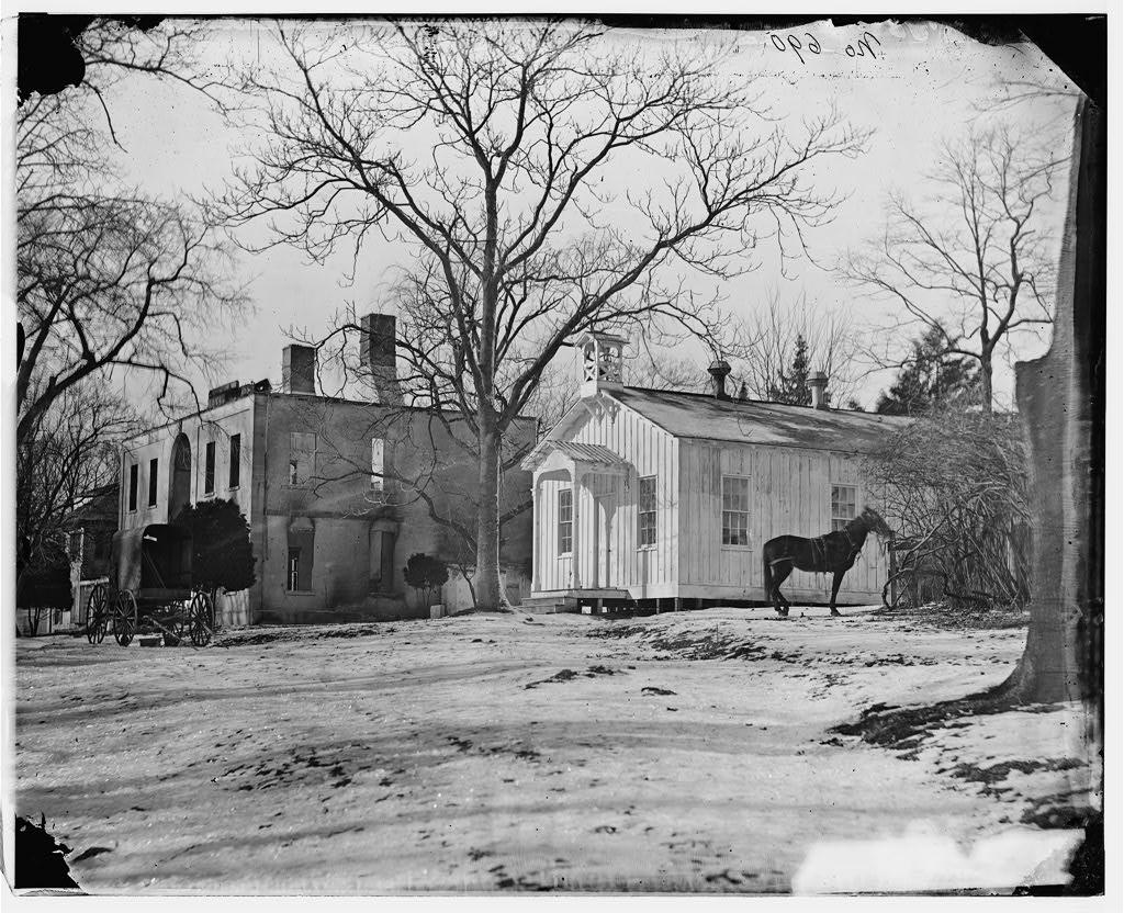 Chapel at Kalorama Hospital, 1865  (Prints and Photographs Division, Library of Congress)