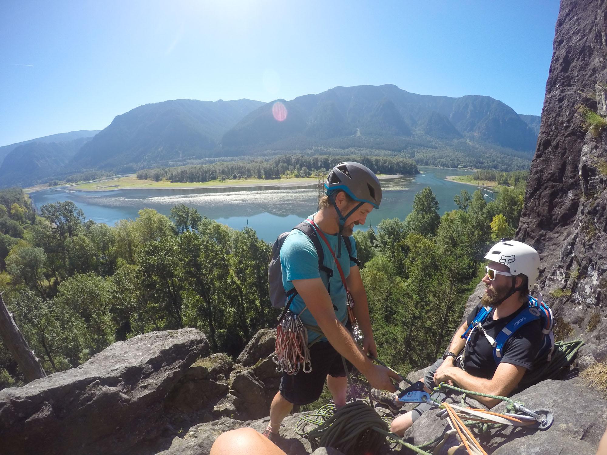 Climbing Beacon Rock