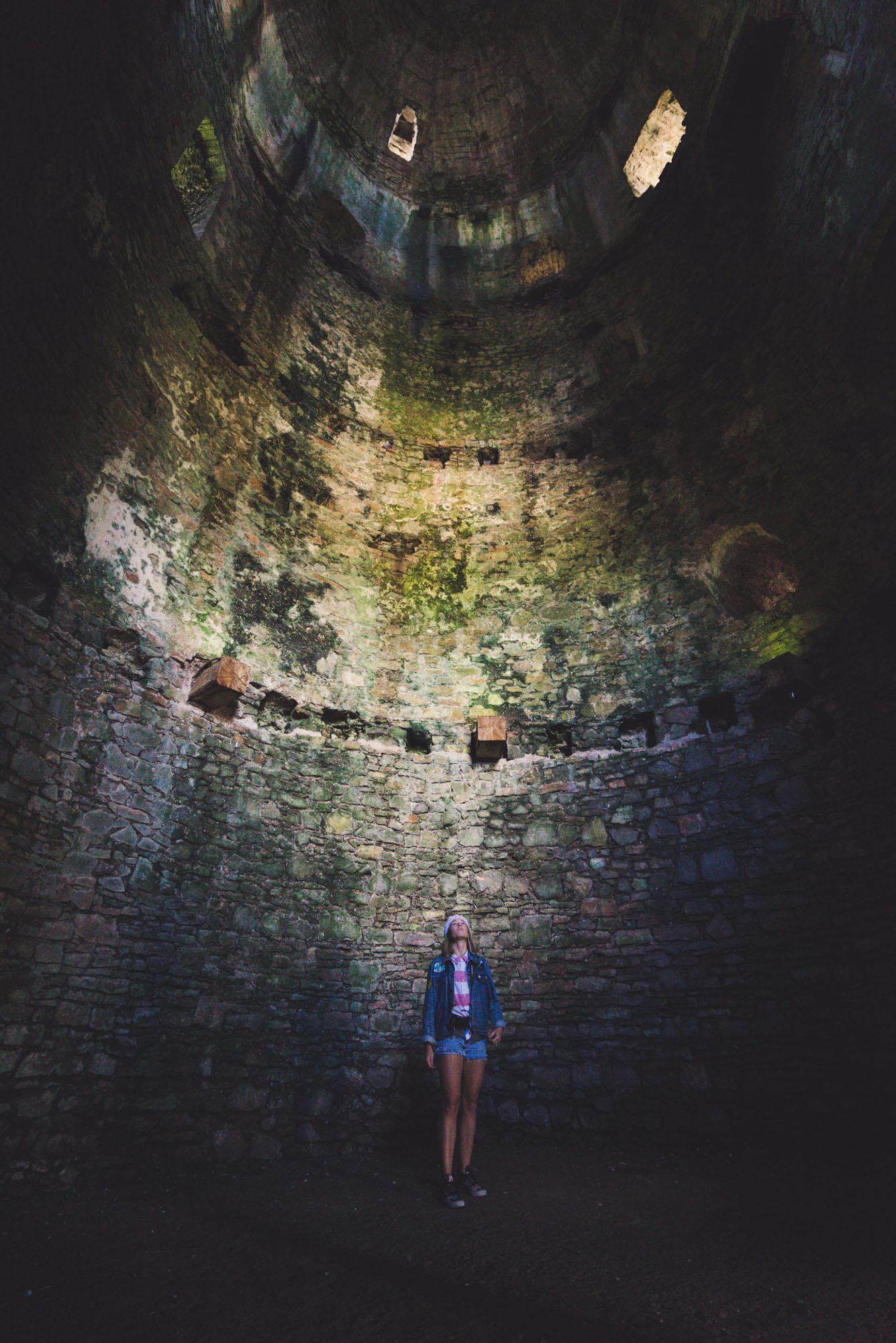 Inside a castle in Wales