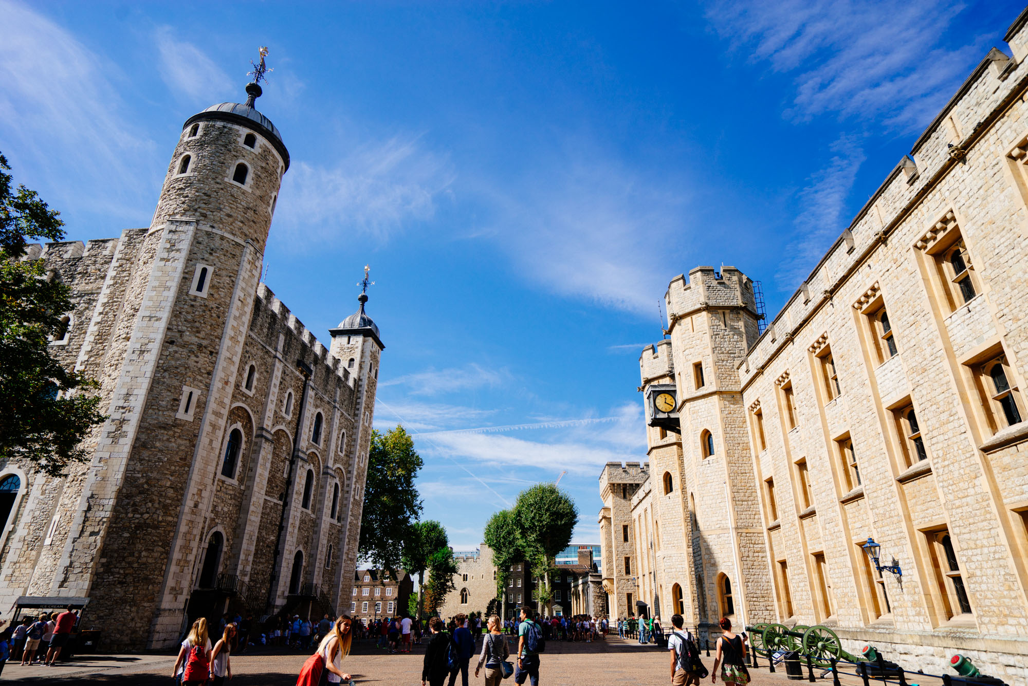 Inside the walls of The Tower of London