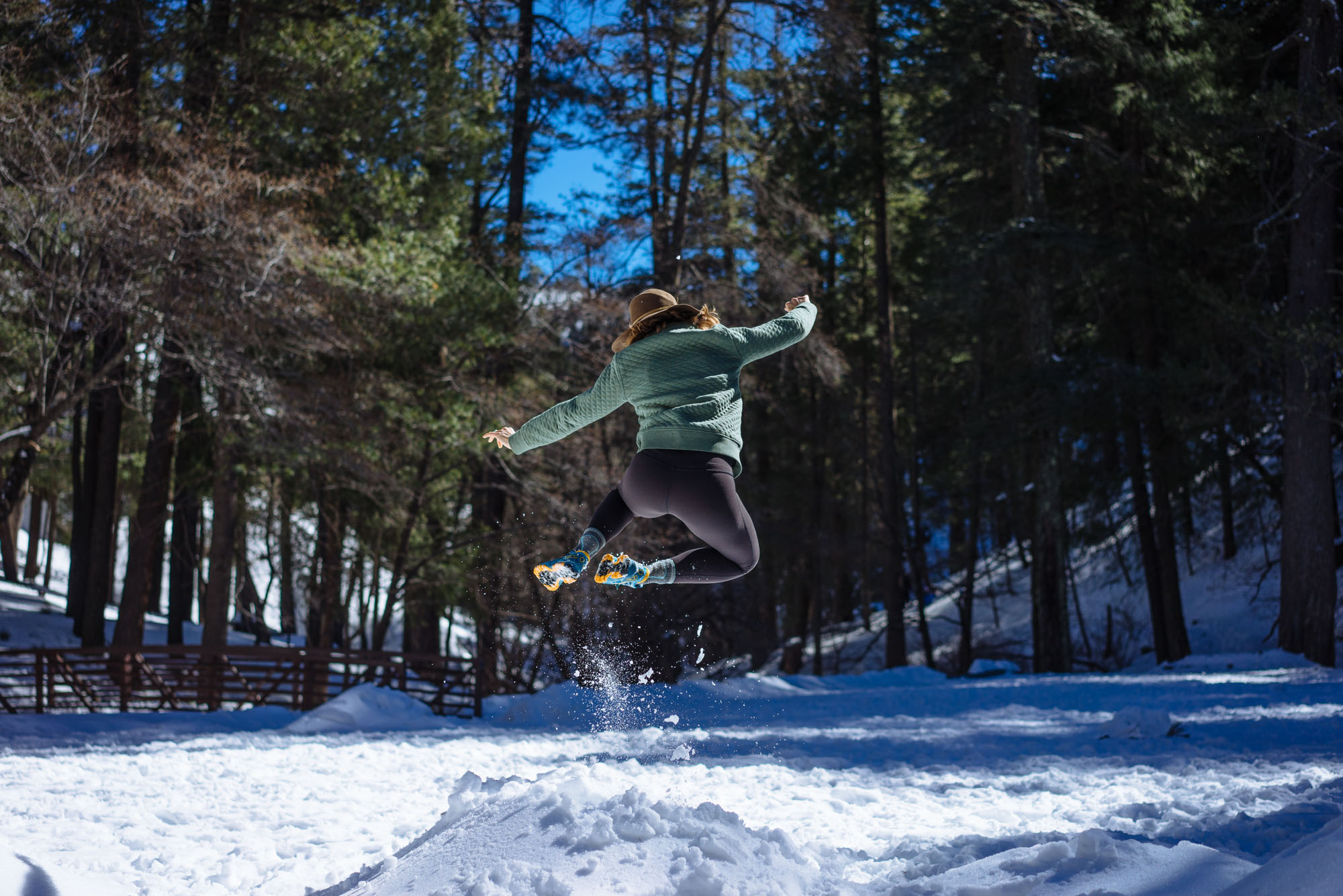 Playing in the snow on Mount Lemmon, AZ