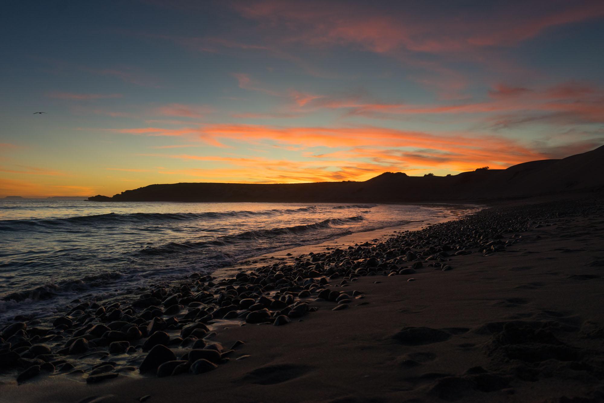 Sunset at El Cardon, One of the Seven Sisters, Baja California
