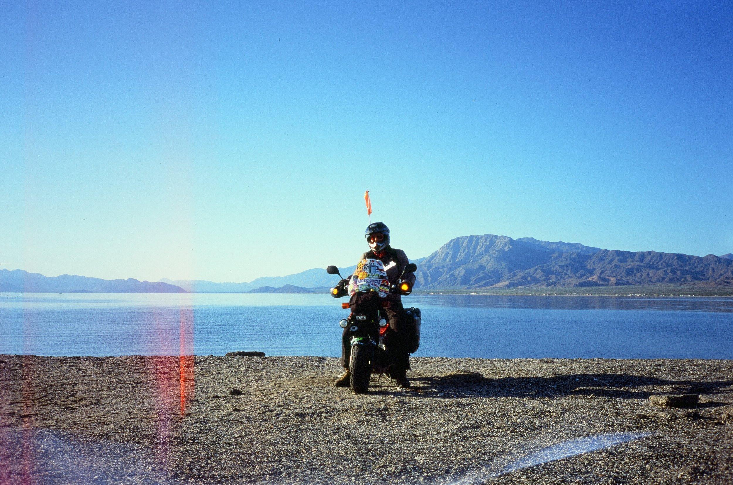 Mike & his Honda Ruckus, La Gringa, Baja California
