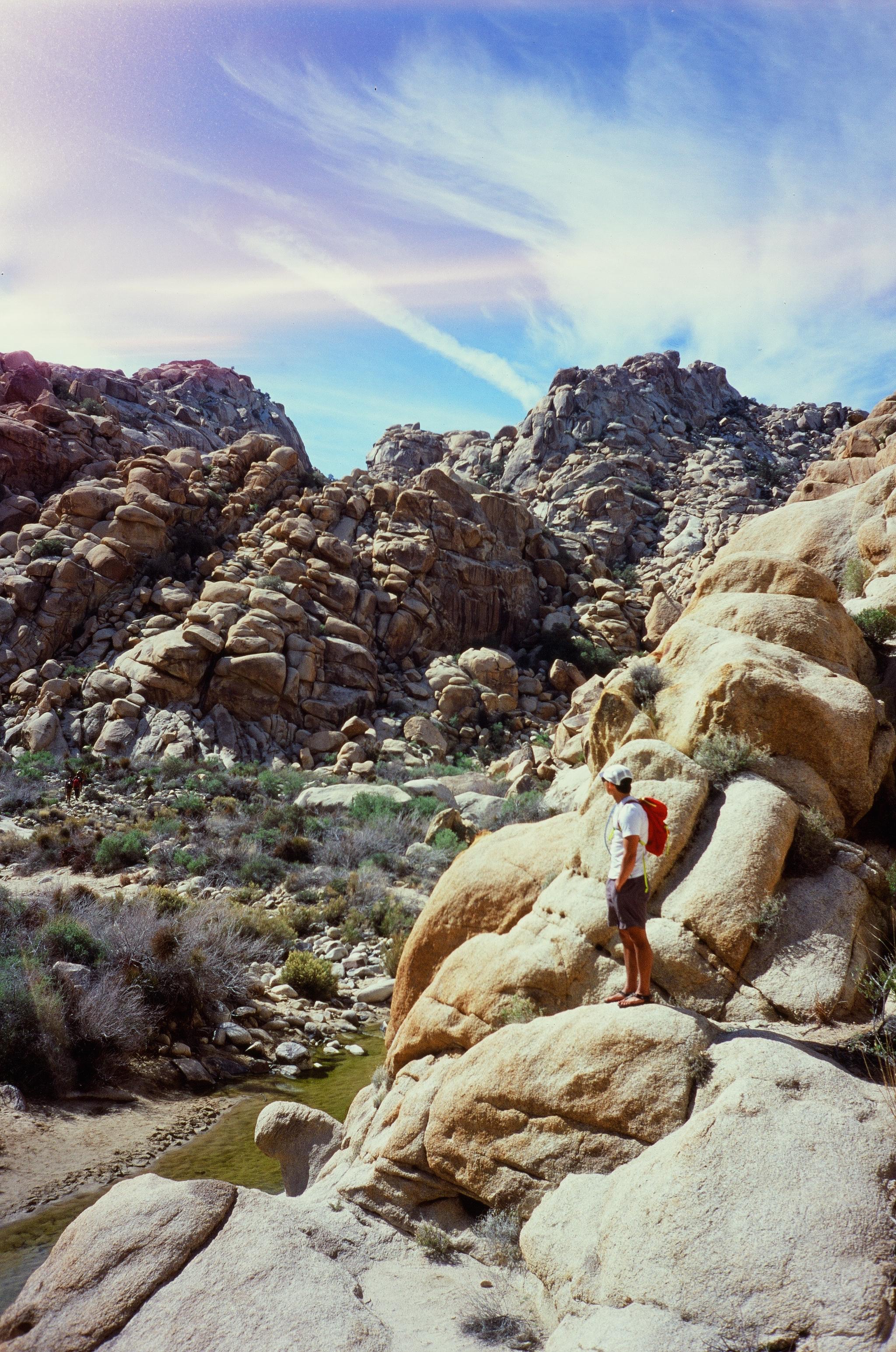 Owen in Rattlesnake Canyon, Joshua Tree NP, California