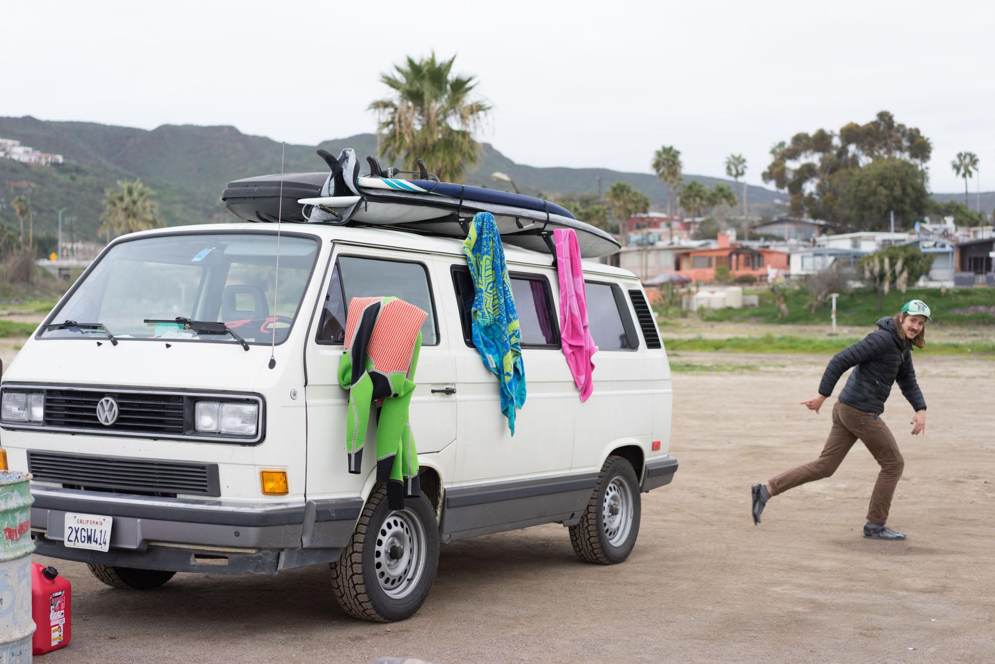 Matt & his van in San Miguel