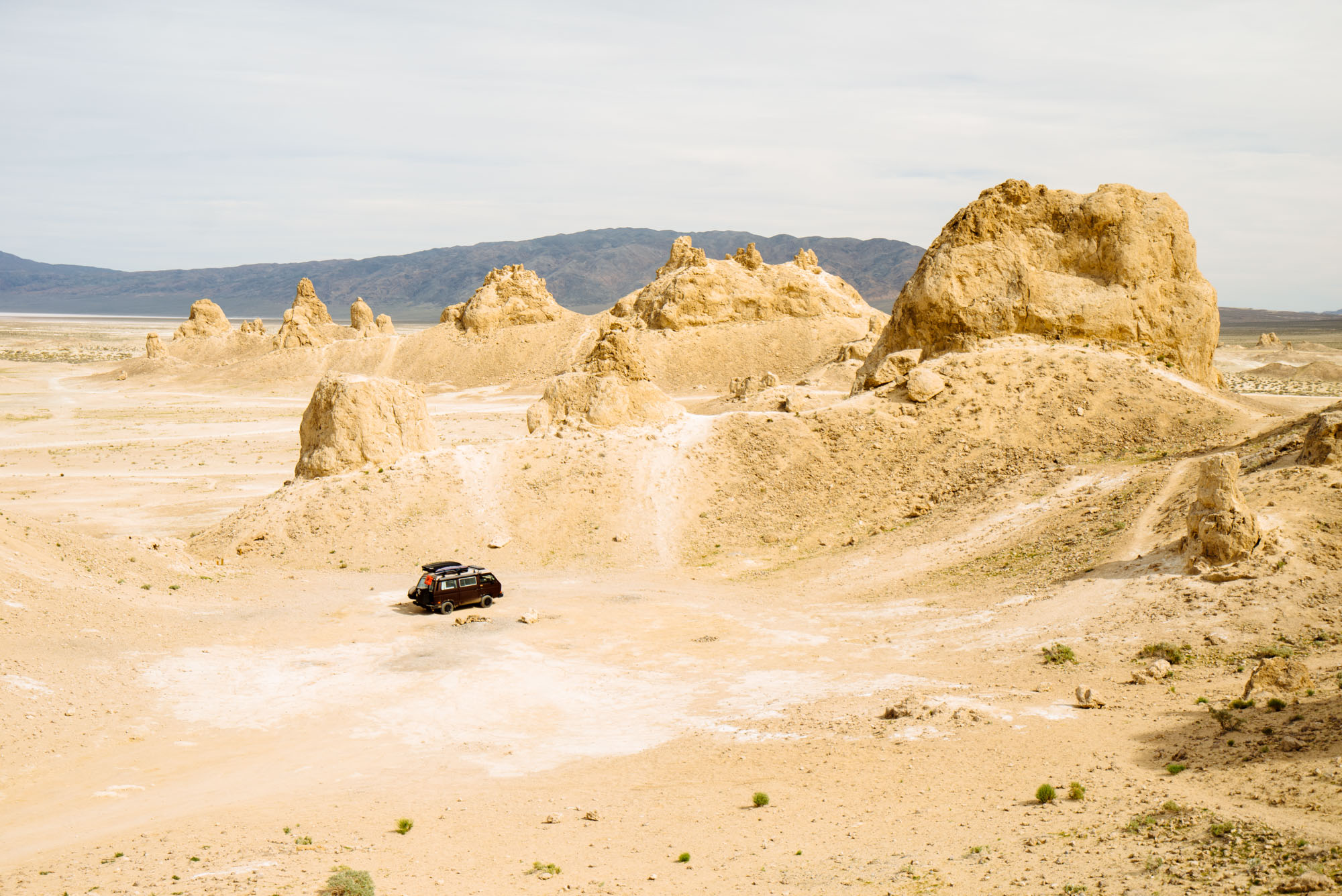Stanley at Trona Pinnacles, CA. Fun Fact: Planet of the Apes was filmed here!