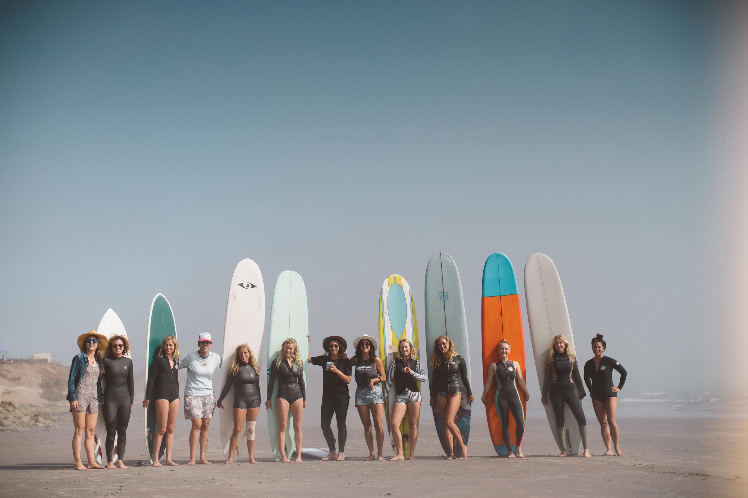 The lady crew in Scorpion Bay, Bala California