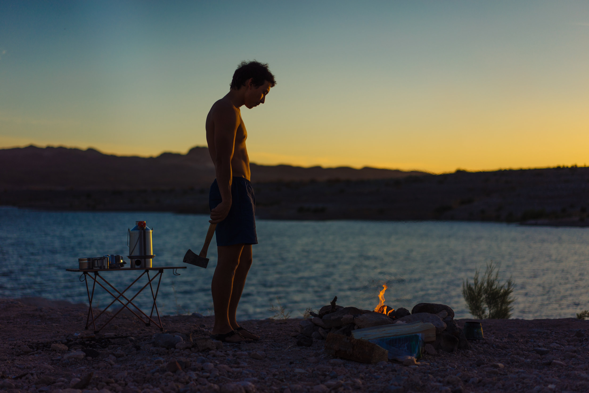 Killer sunset over Lake Mead, NV