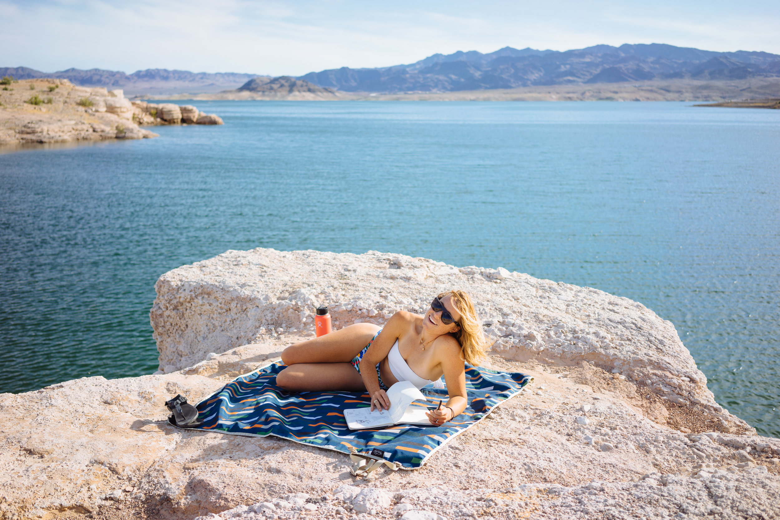 Working/sunning at Lake Mead