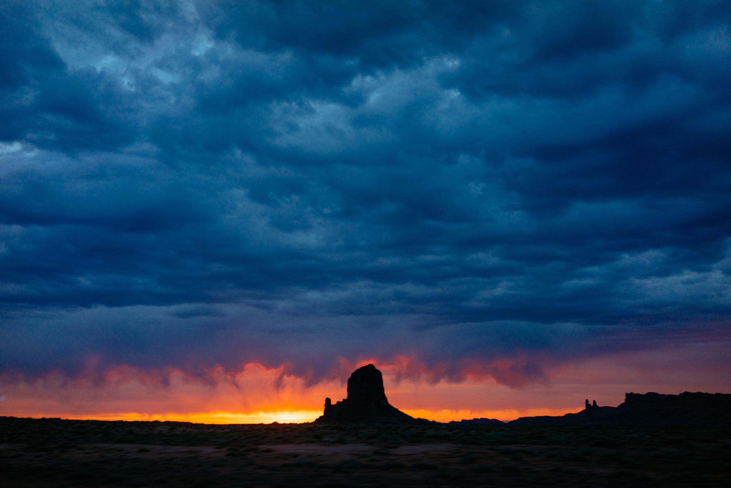 Sunrise on over Monument Valley, Arizona