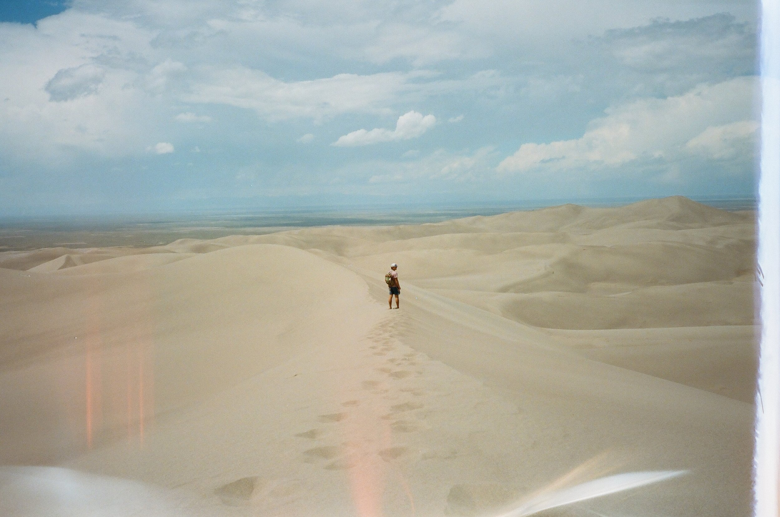 Owen at Great Sand Dunes NP, 35mm