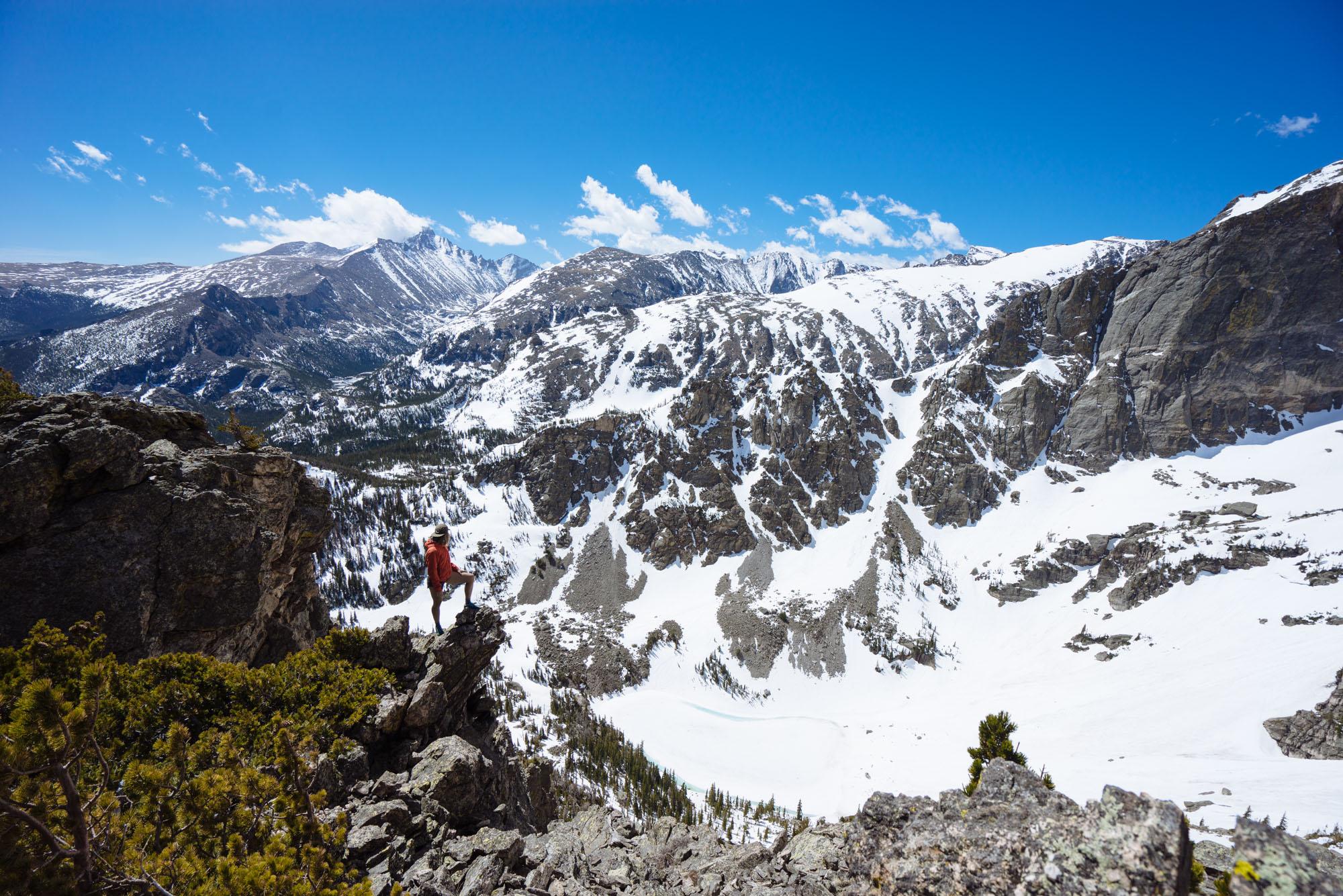 Hiking to Flat Top Mountain, RMNP, CO