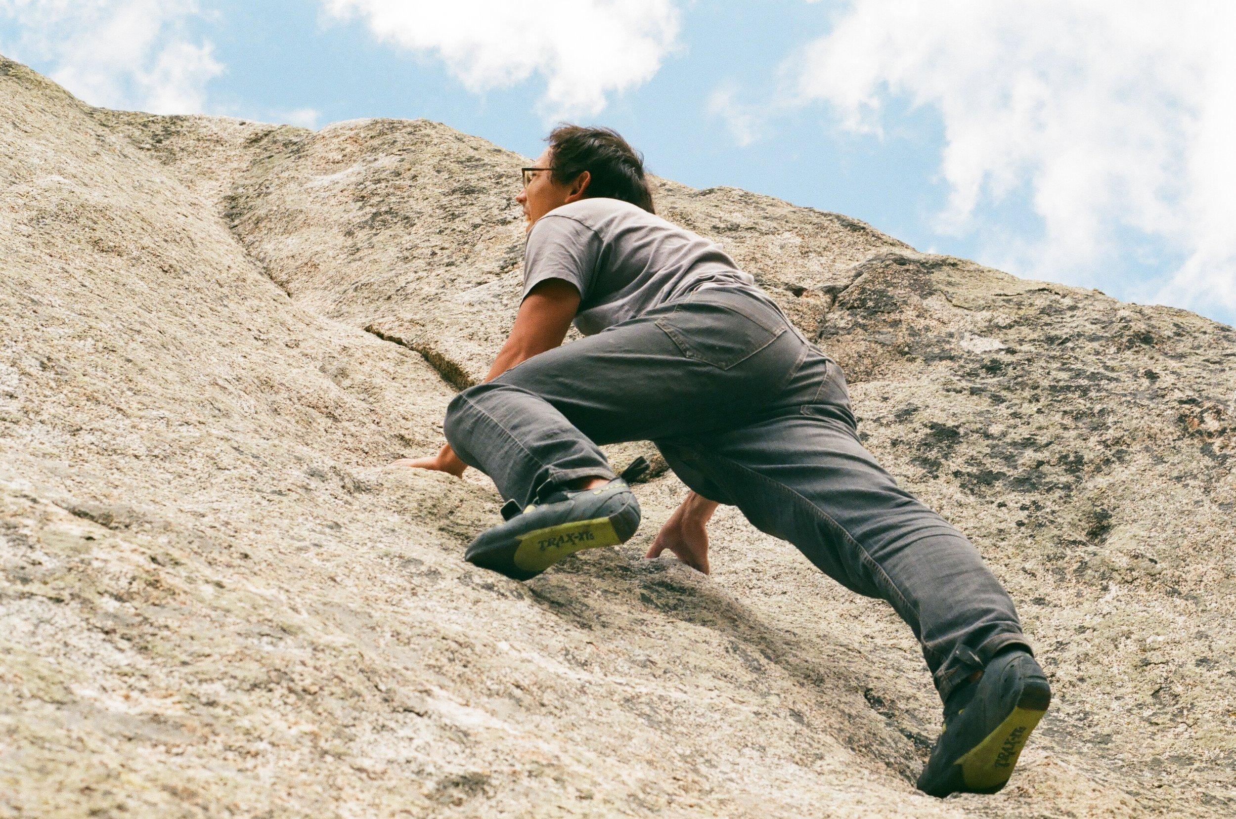 Owen Climbing, 35mm