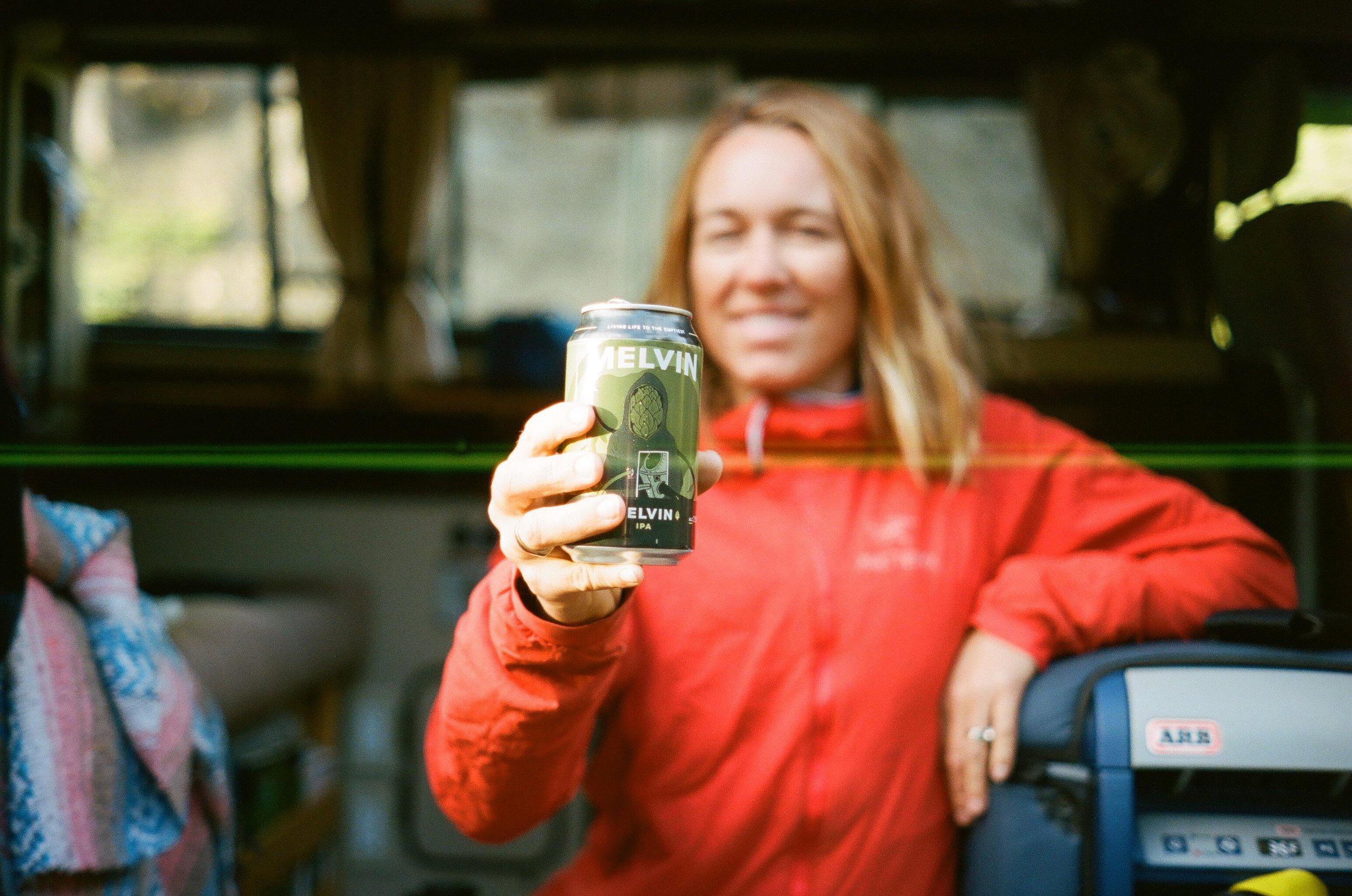 MAK enjoying her favorite beer from Melvin, 35mm
