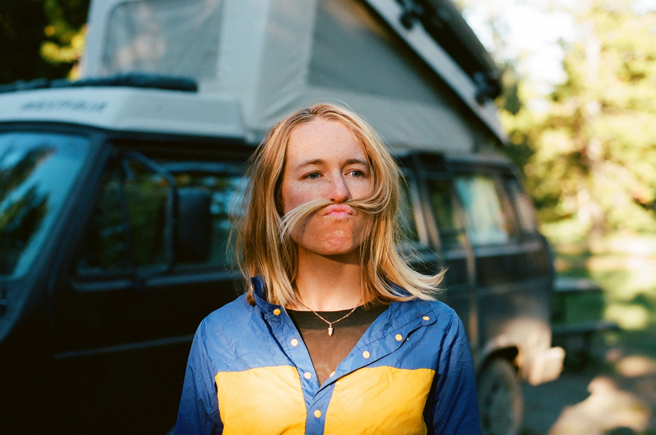 MAK showing off her even more impressive mustache, 35mm