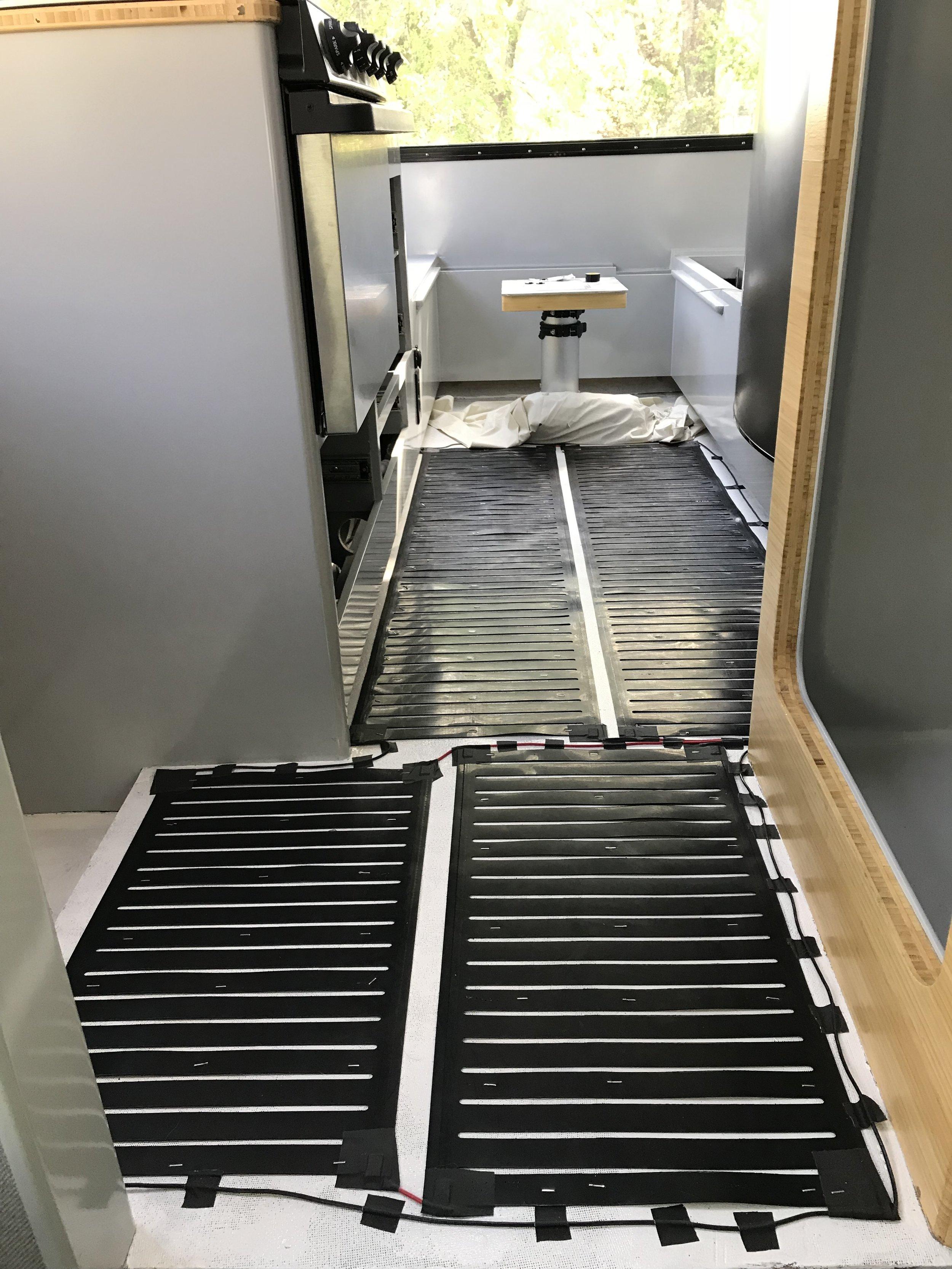 Floor heating elements