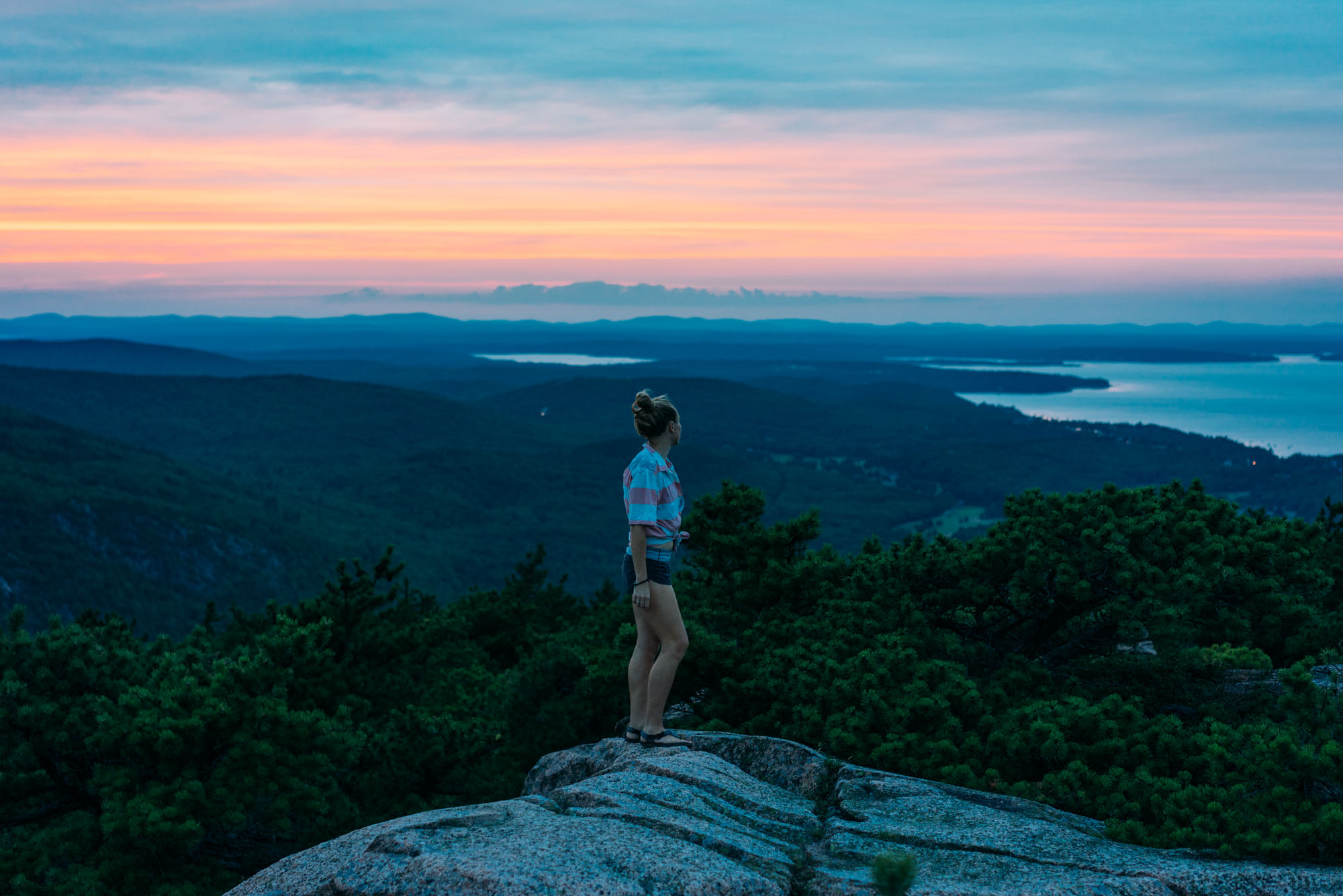 Sunset from the top of Precipice Mountain