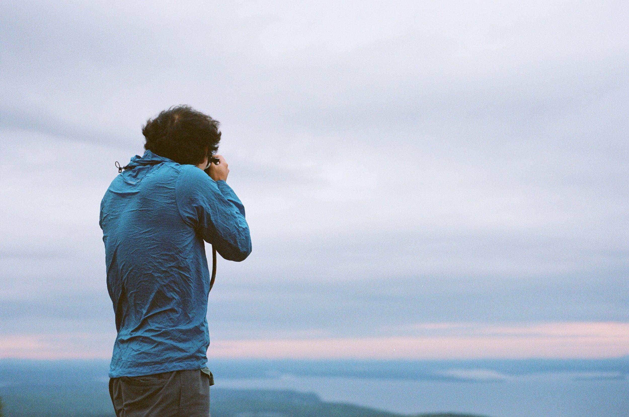 Owen on Cadillac Mountain, 35mm Film