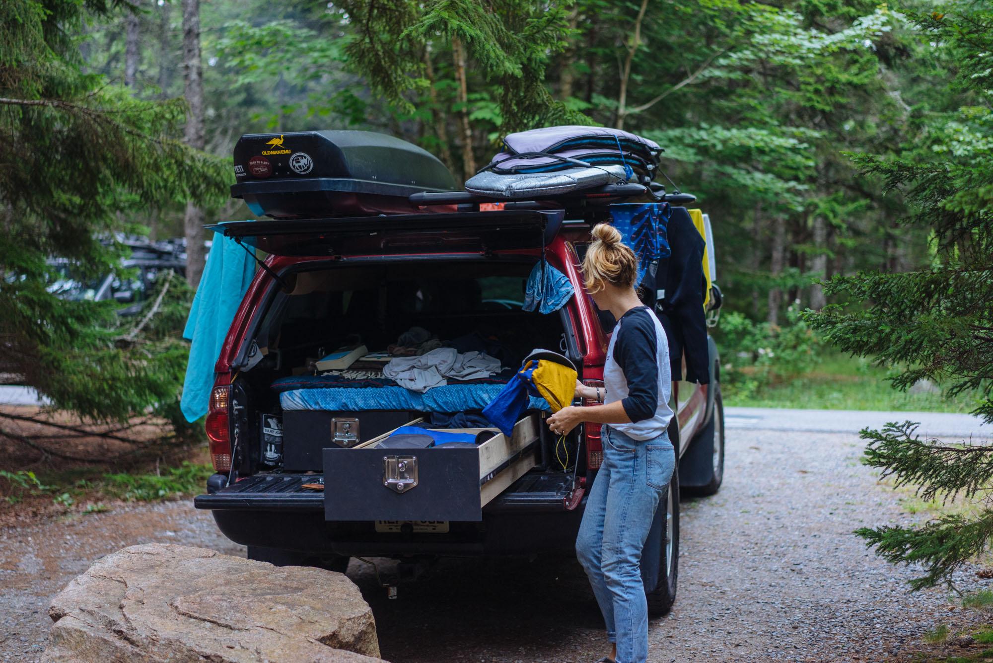 MAK at camp in Acadia NP