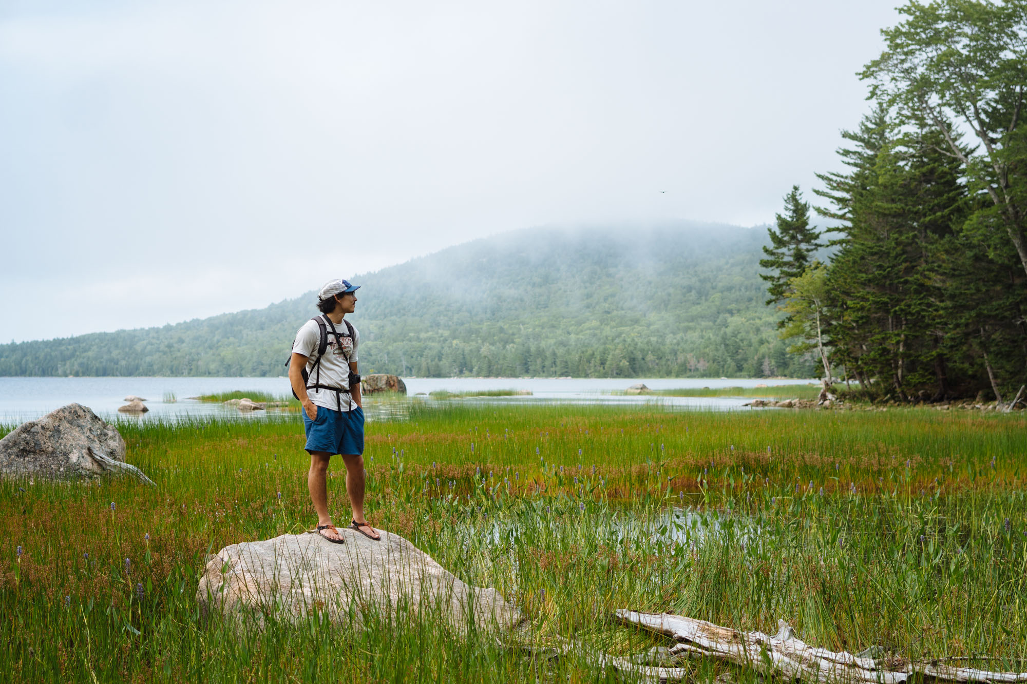 Owen at one of the many ponds in Acadia NP