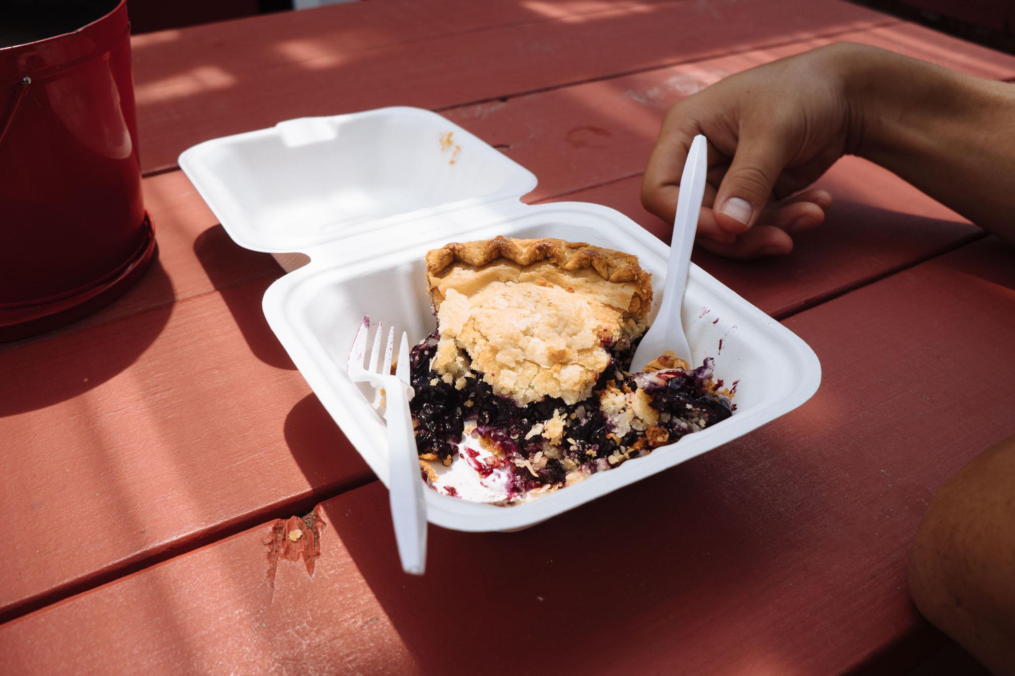 Wild Maine Blueberry pie