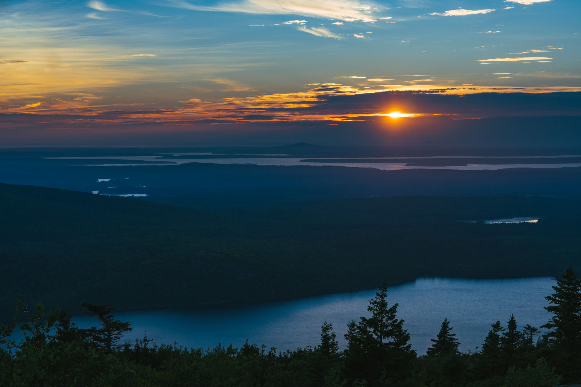 You wanted more sunset, so here is more sunset over Acadia NP