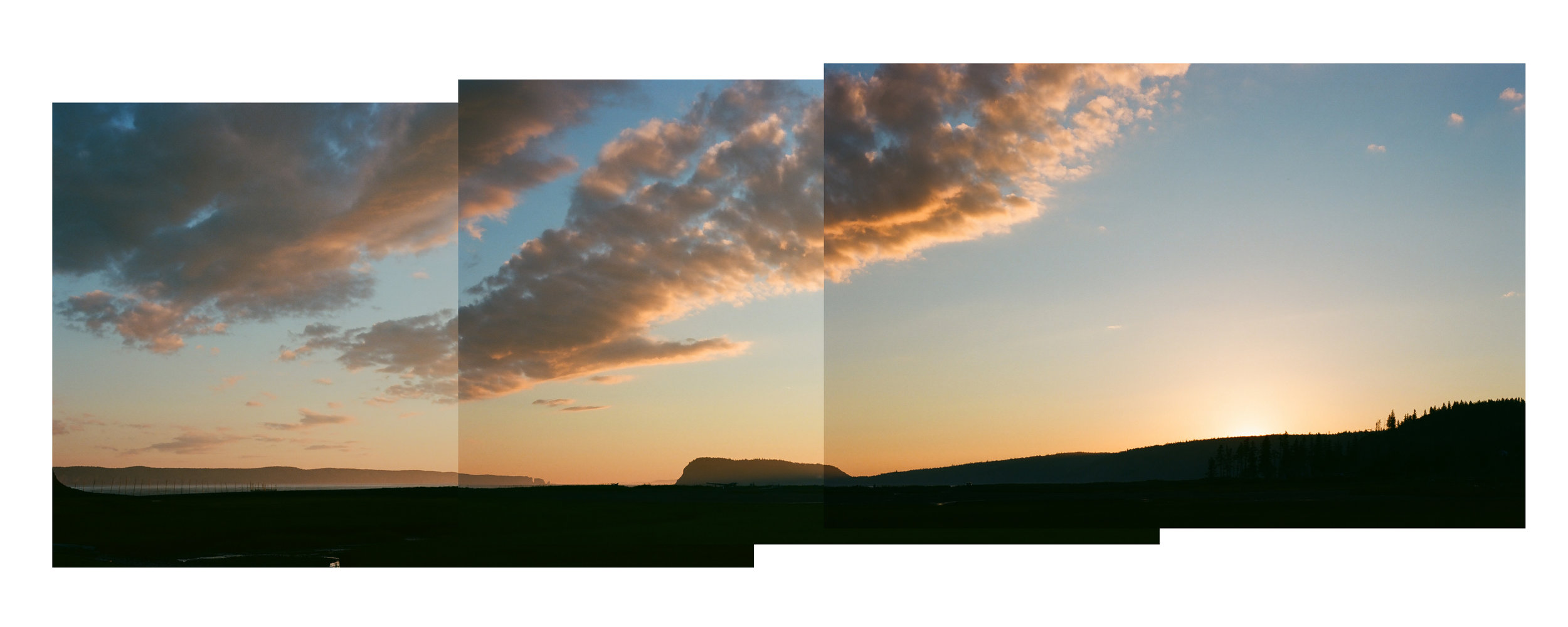 Pano Created using 35mm film photos of the Sunset over Partridge Island