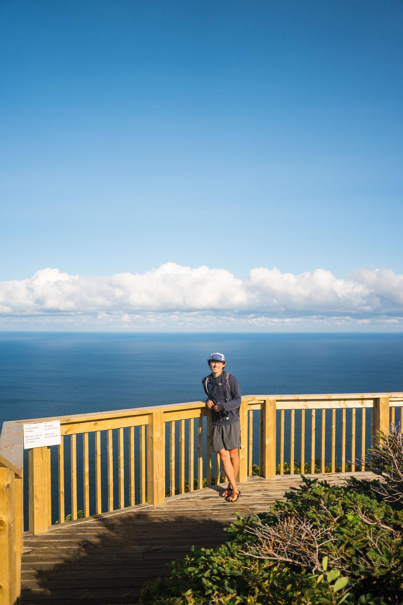 Owen on the Skyline Hike in Cape Breton, NP