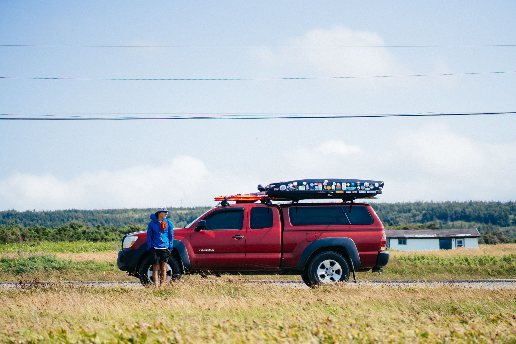 Owen with Lando during one of our many pit stops around Cape St. George