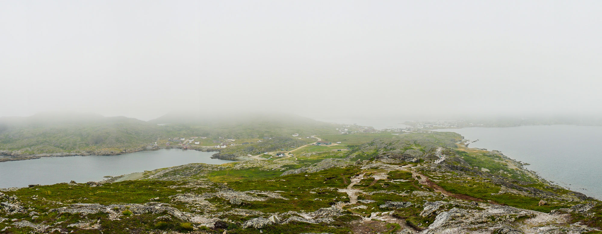 The view back at the city of Fogo