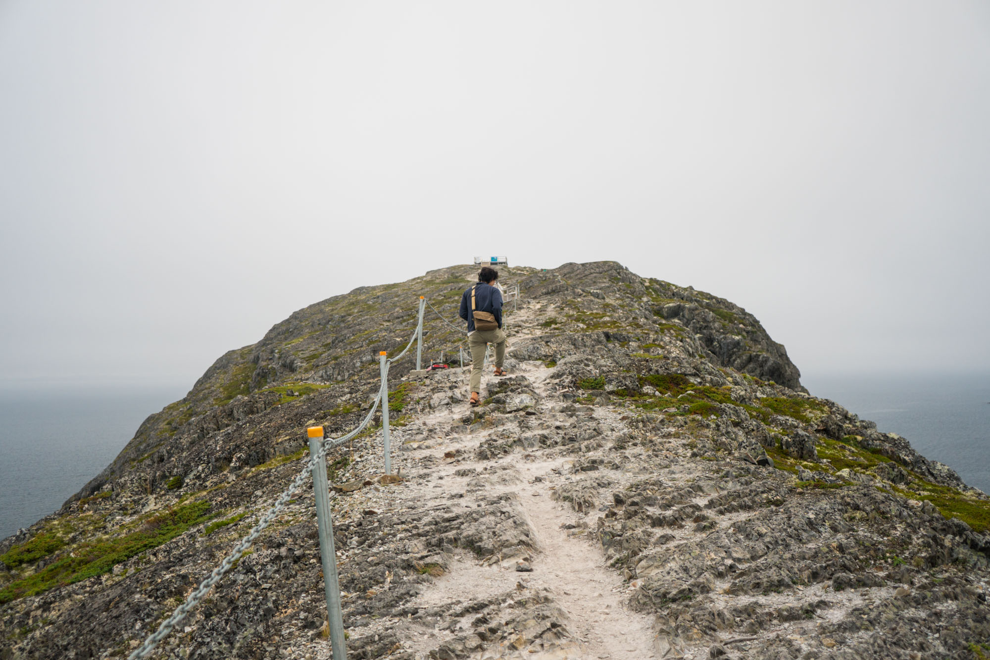 Owen nearing the top of Brimstone head