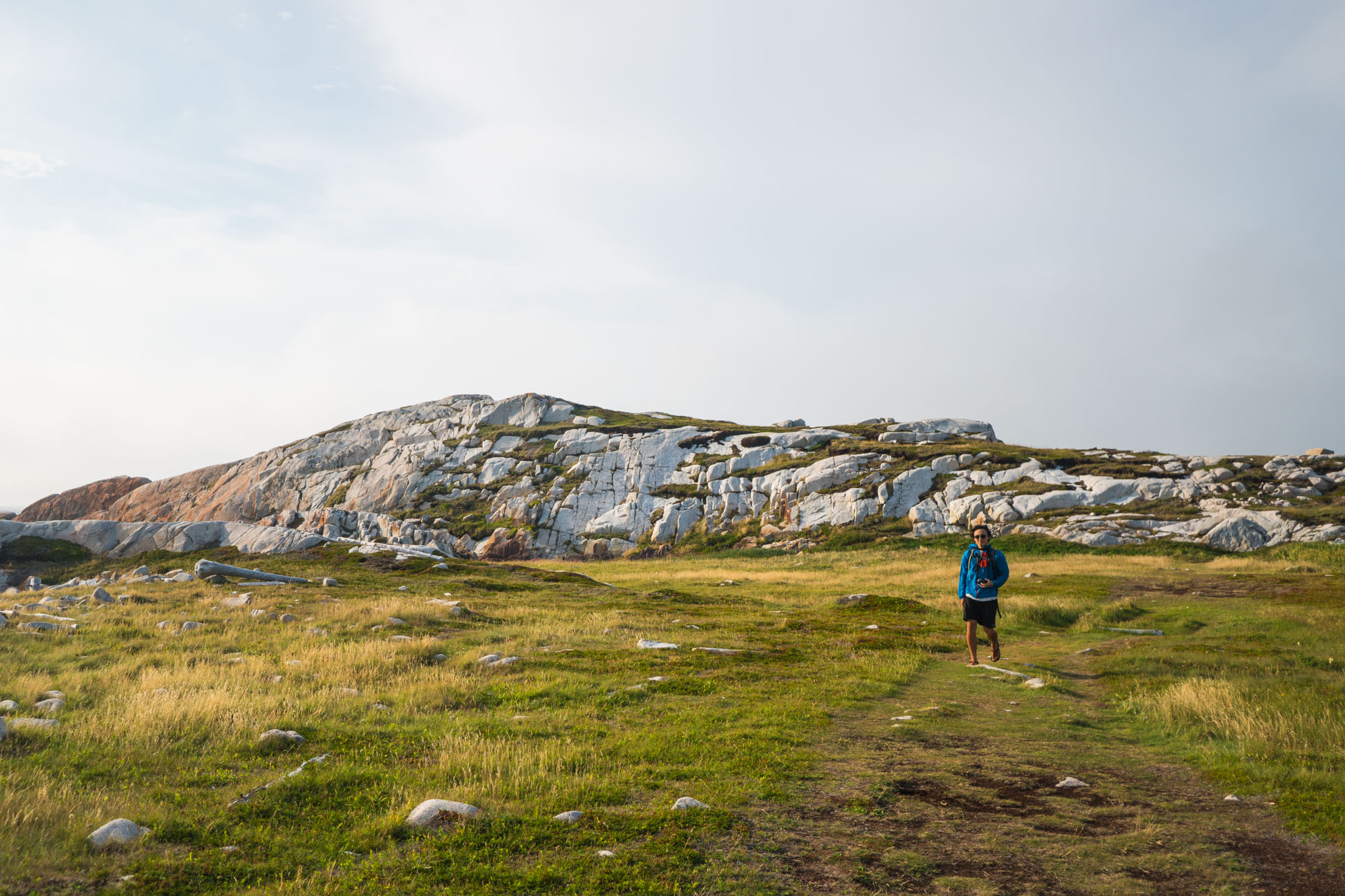 Owen hiking on the Joe Batt's Arm trail