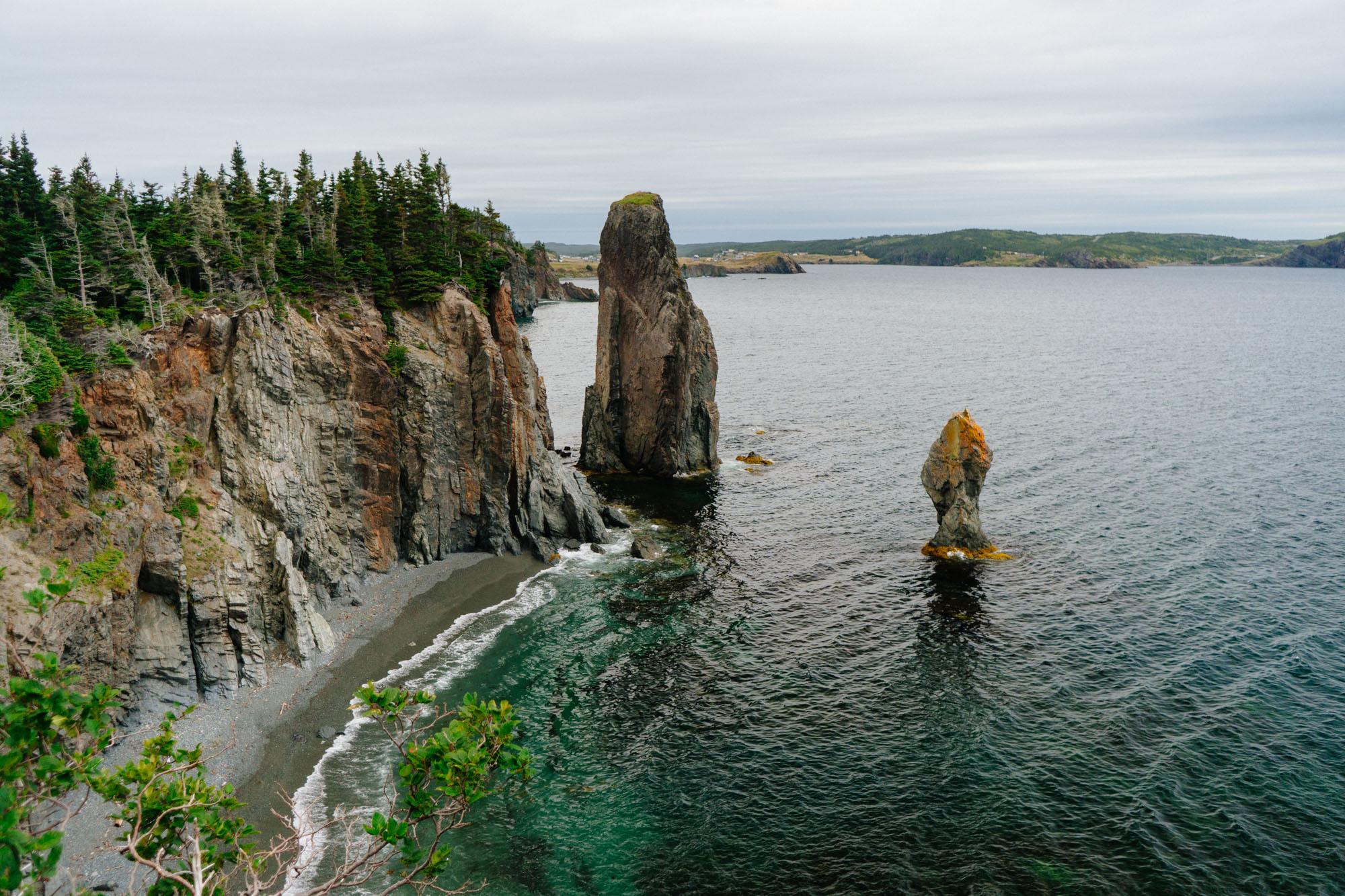 More sea stacks along the coast